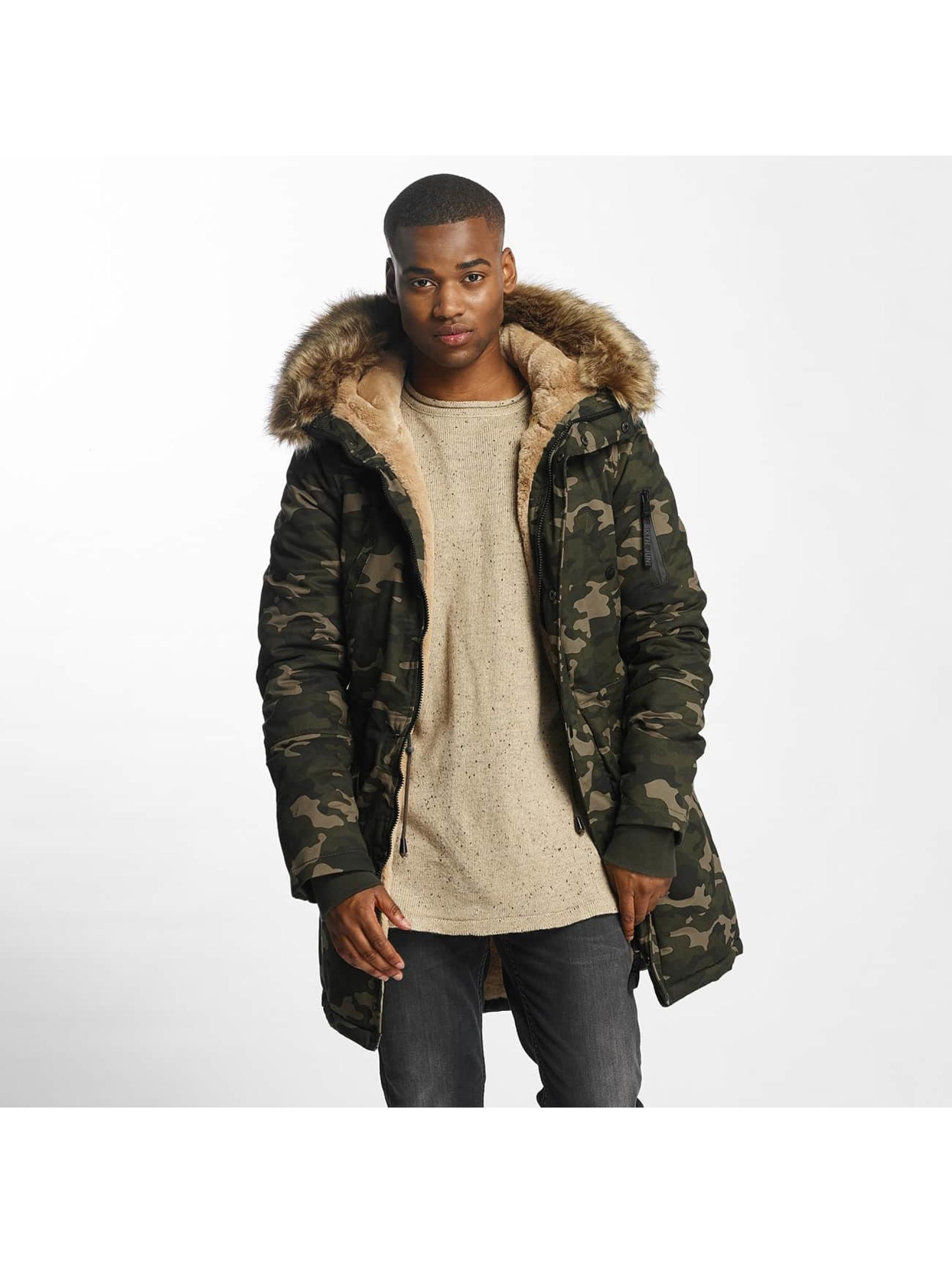 sixth june herren winterjacke fur in camouflage 418781. Black Bedroom Furniture Sets. Home Design Ideas
