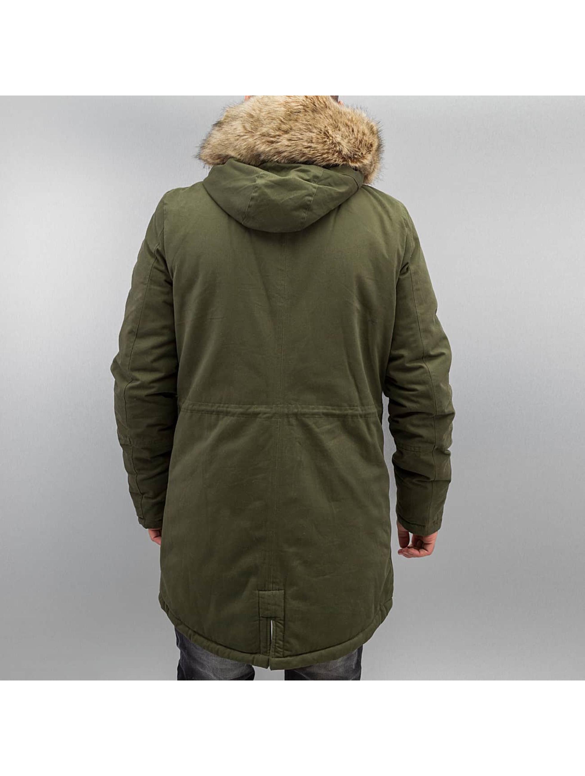 sixth june herren winterjacke fur in khaki 301461. Black Bedroom Furniture Sets. Home Design Ideas