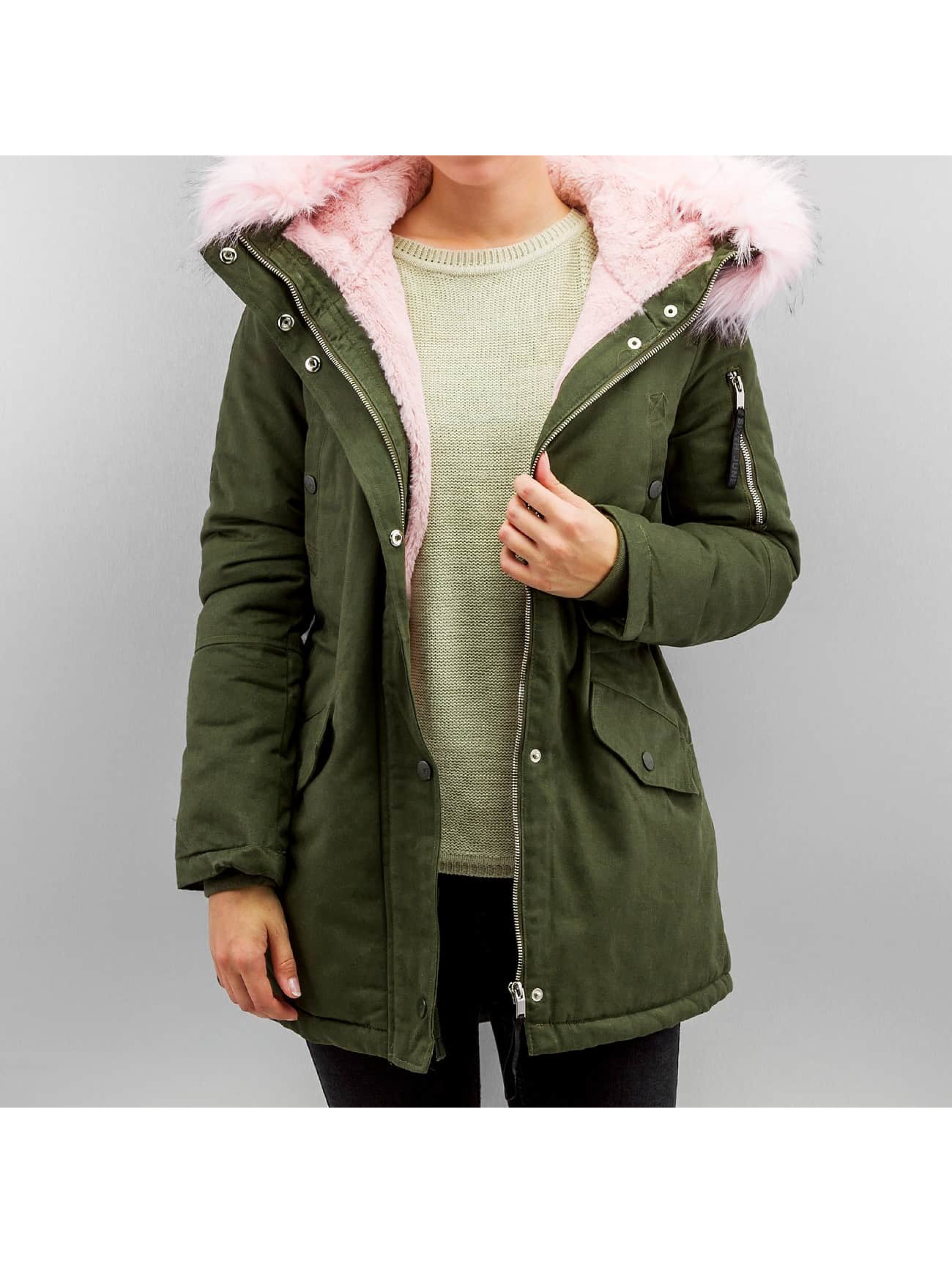 Winterjacke Fake in khaki