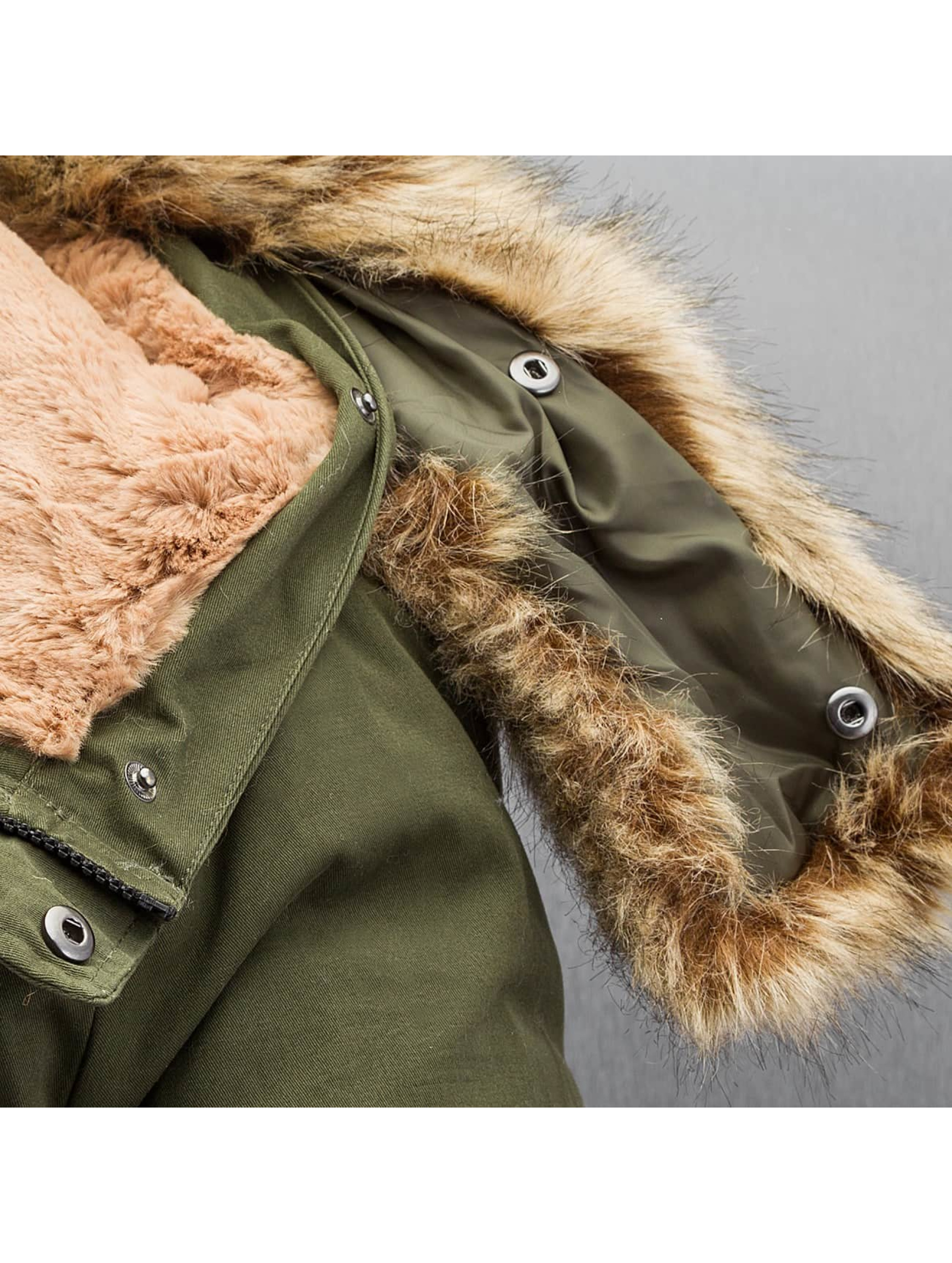 Sixth June winterjas Fur khaki