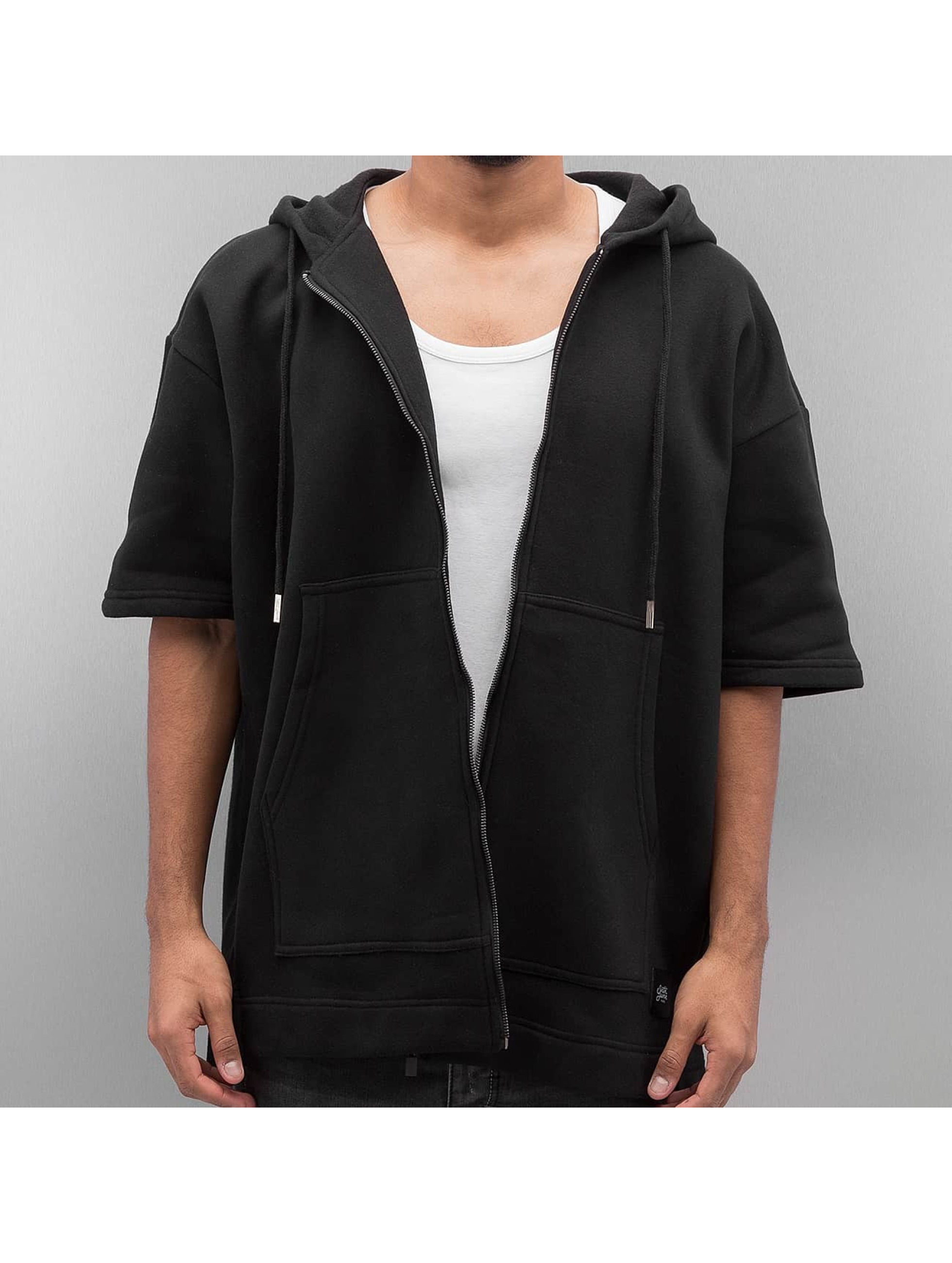 Sixth June Zip Hoodie Oversized 3/4 black