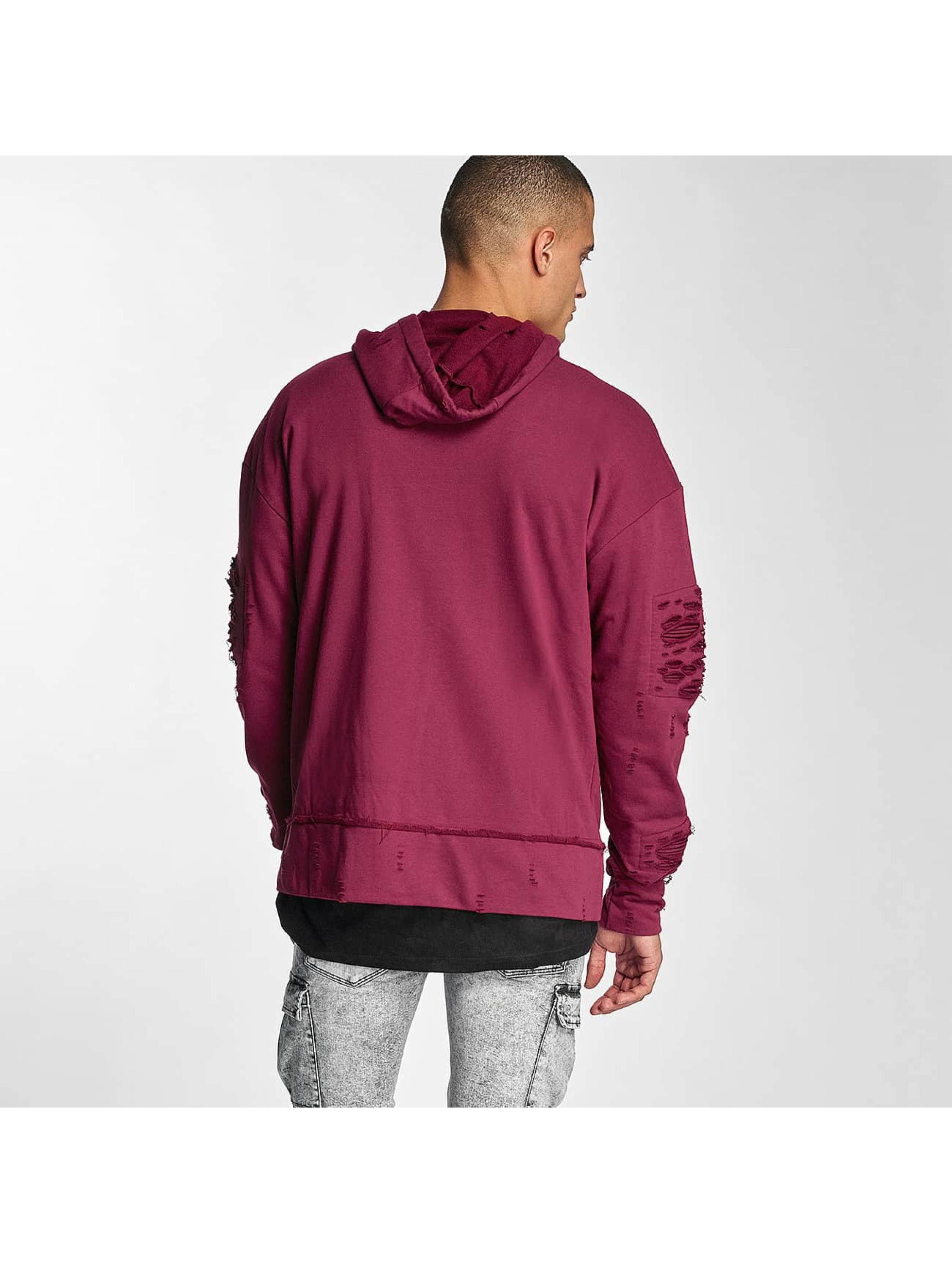 Sixth June Zip Hoodie Destroyed Zip Up red