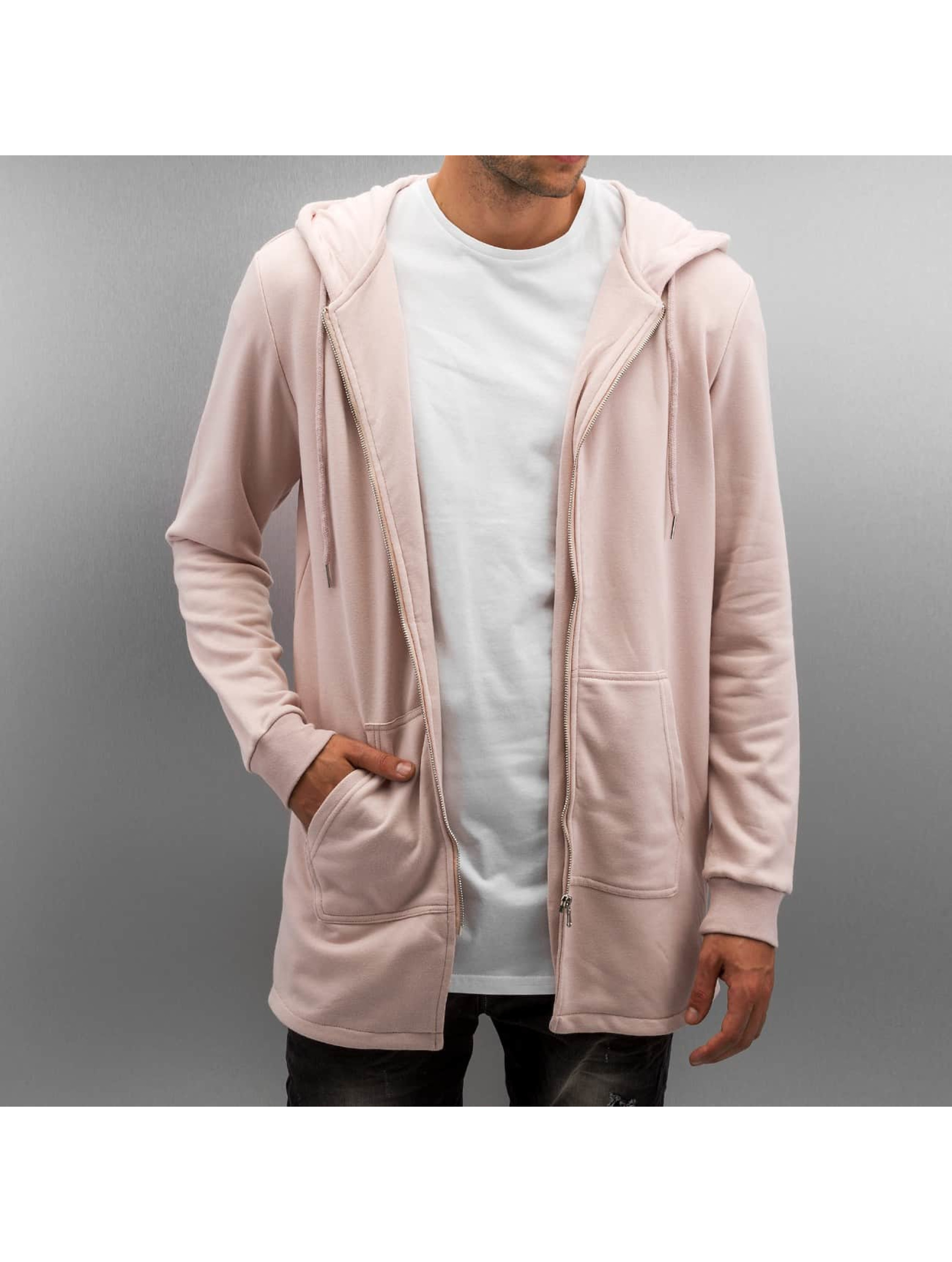 Zip Hoodie Zip Up in rosa