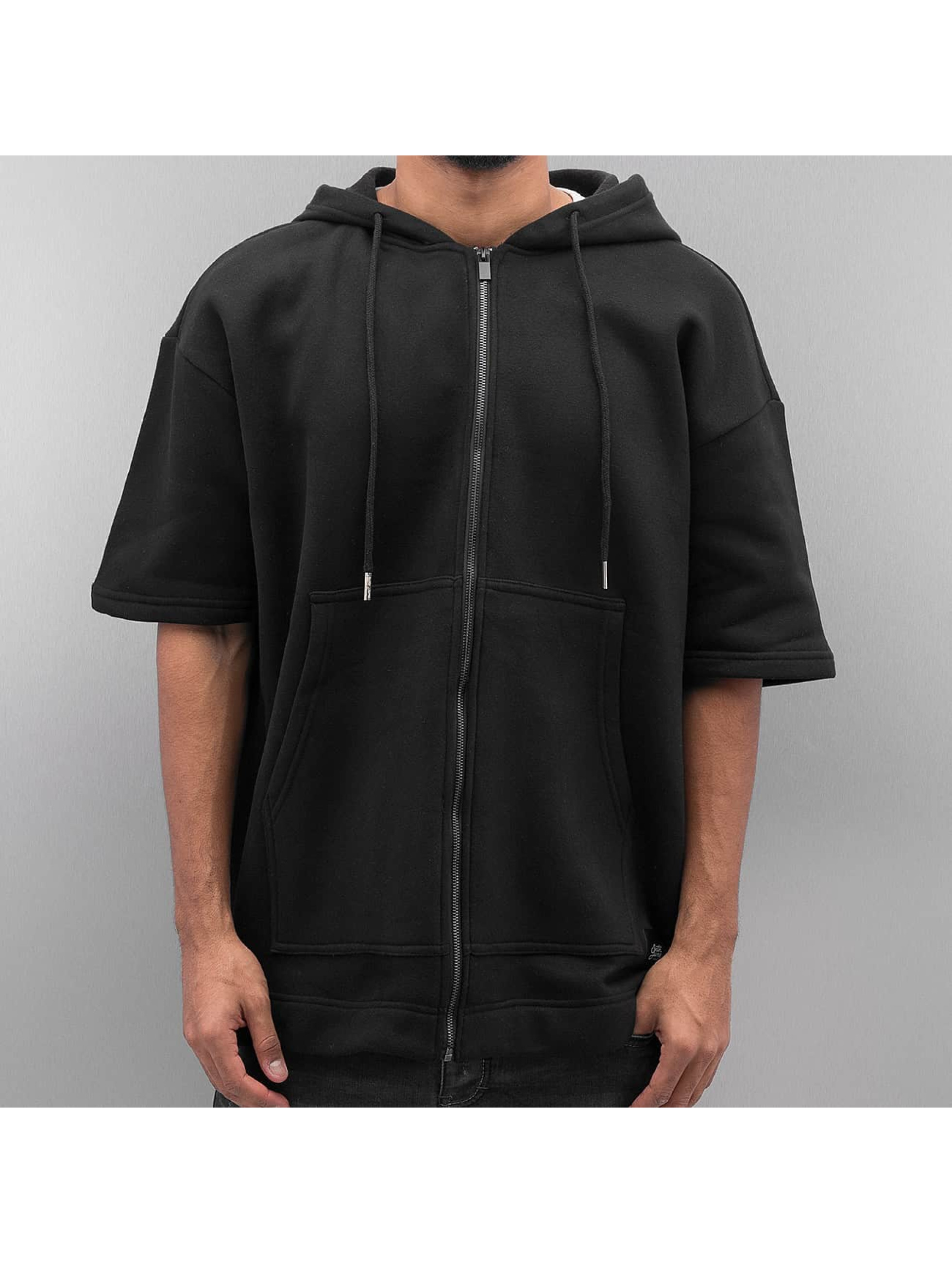 Sixth June Zip Hoodie Oversized 3/4 schwarz