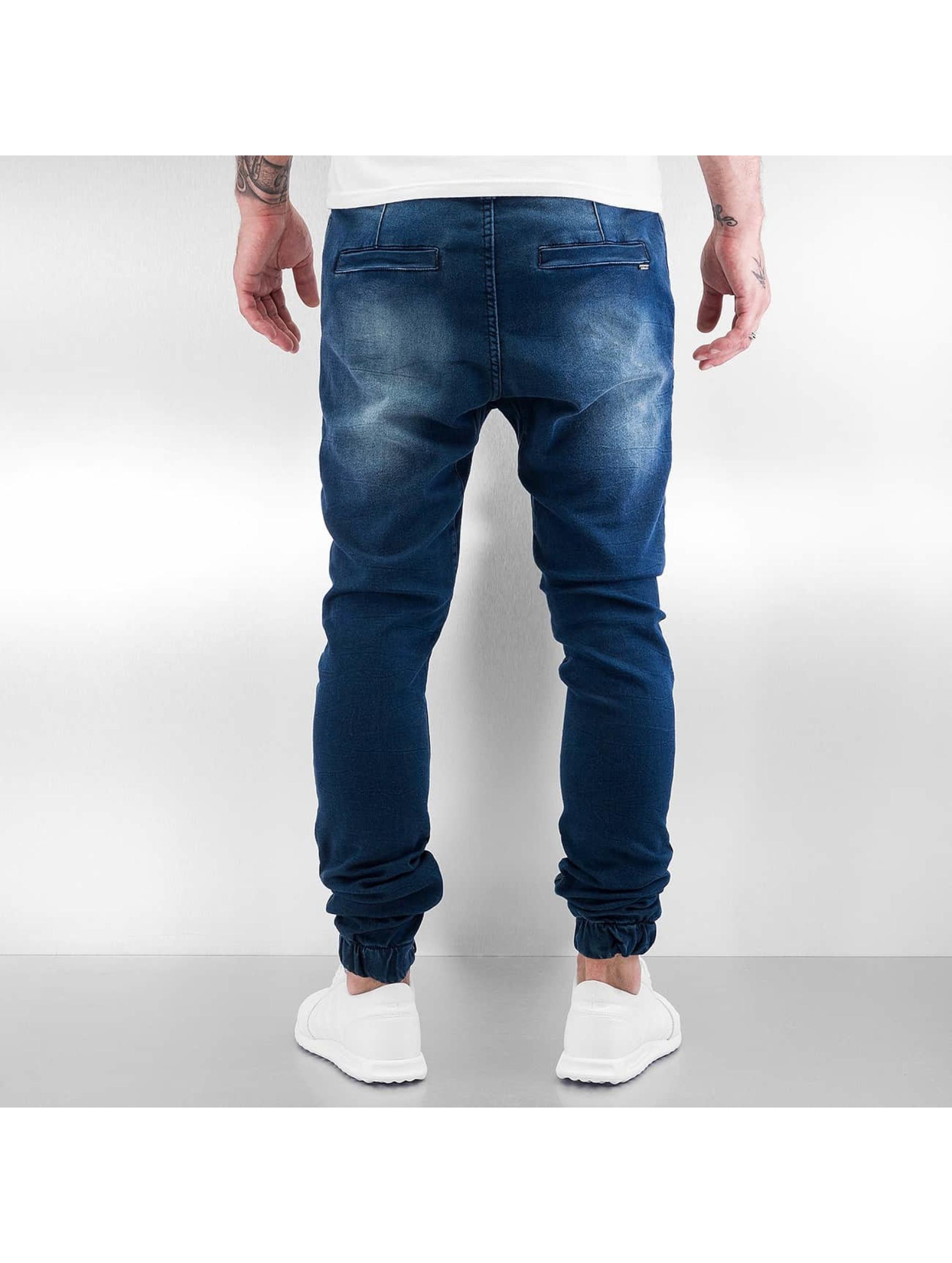 Sky Rebel Jogginghose Jeans Style blau