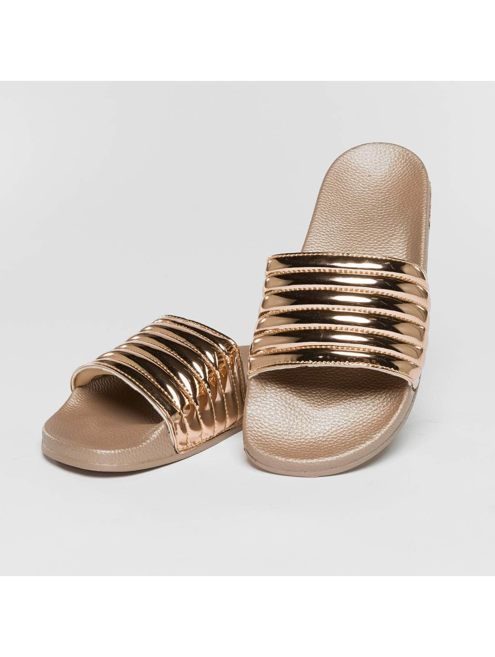 Slydes Sandals Port gold colored