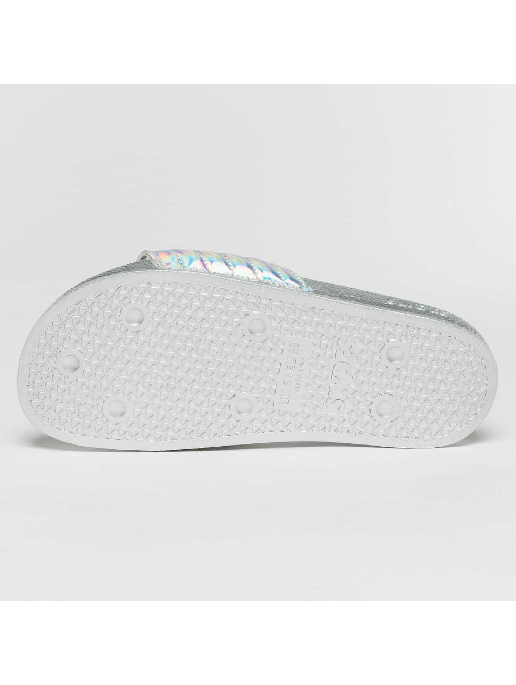 Slydes Sandals Port silver colored