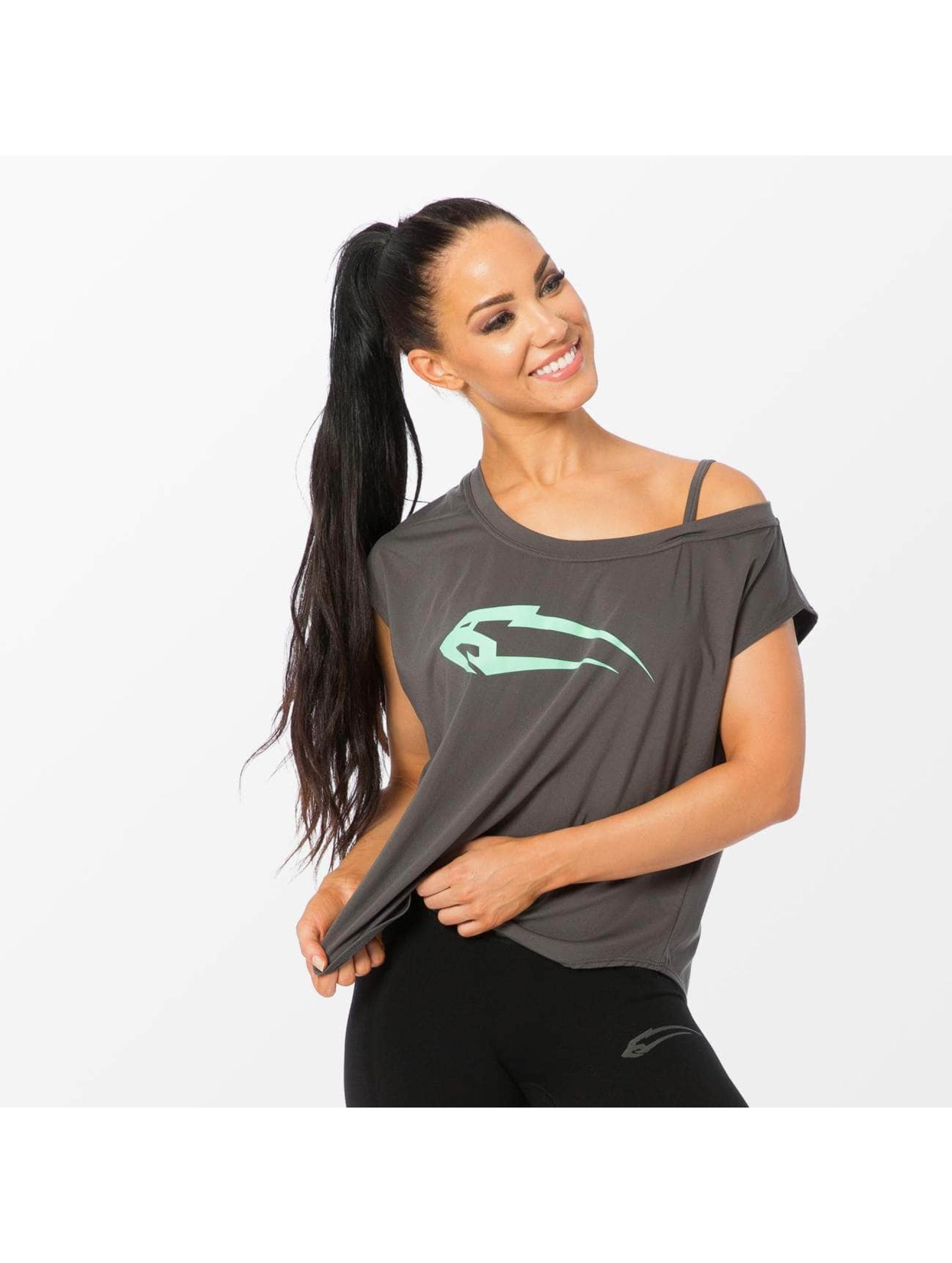 Smilodox T-Shirt Loose grau