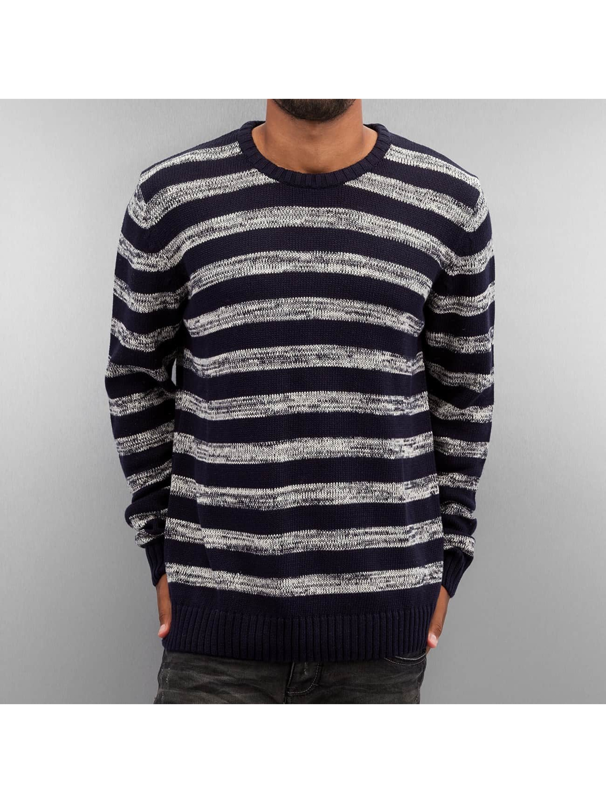 Solid Пуловер Knit Duncan синий