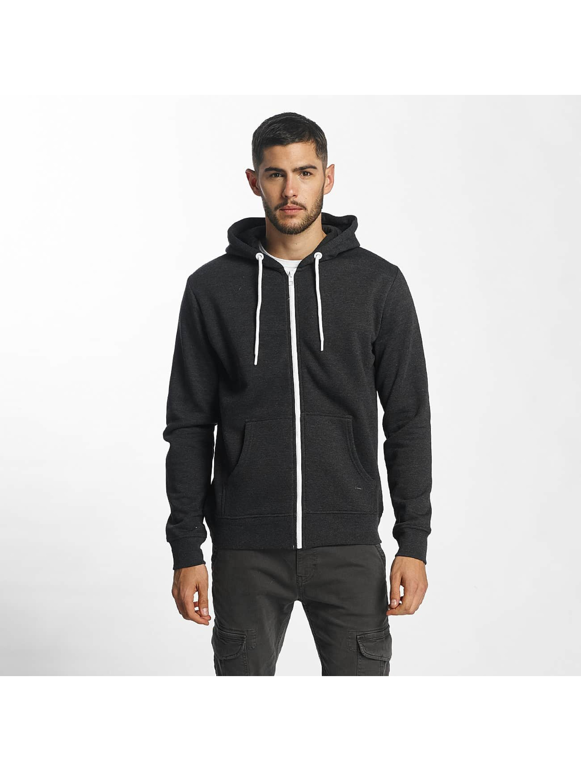 Solid Hoodies con zip Deacon grigio