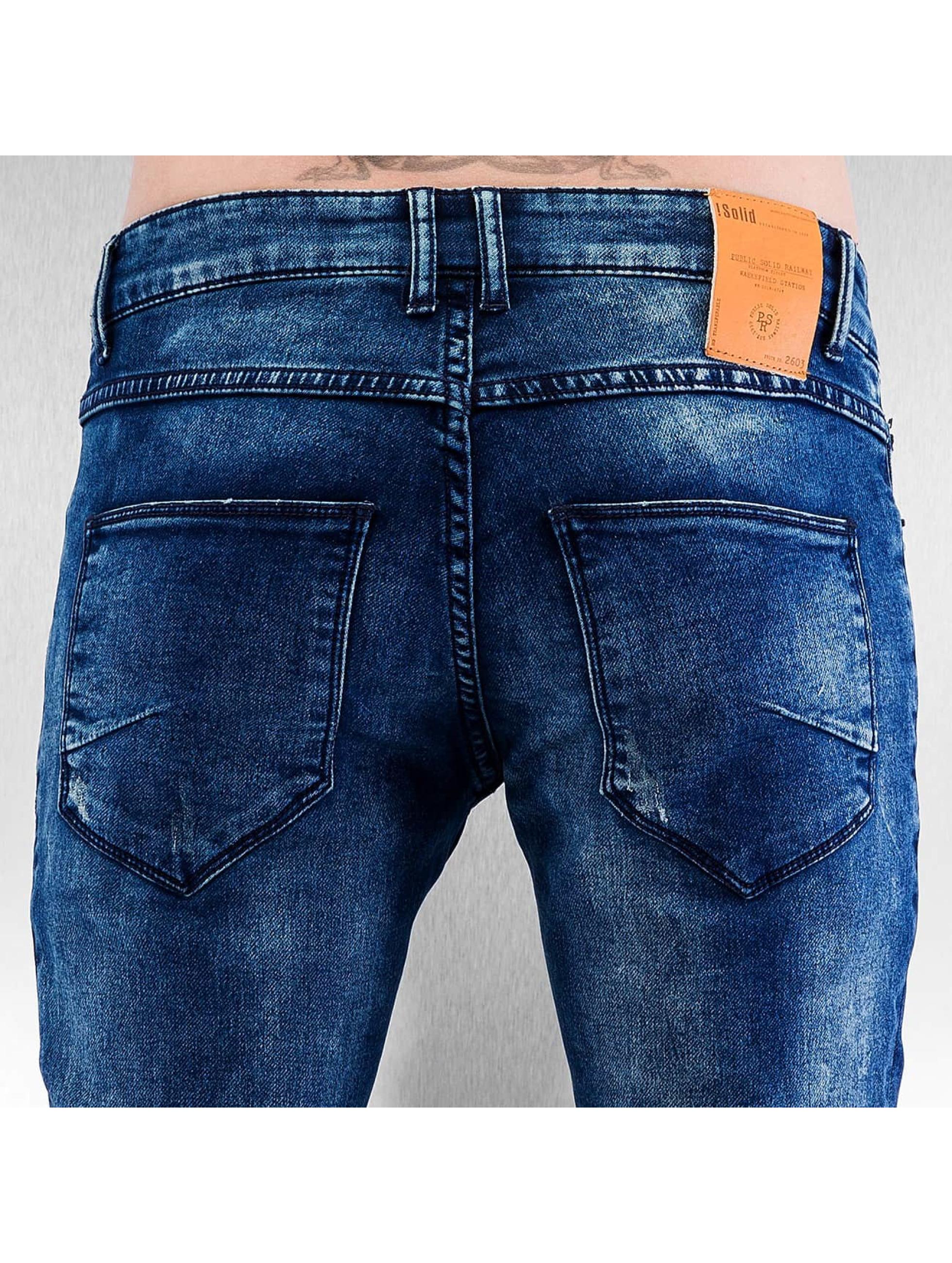 Solid Jean coupe droite Joy bleu