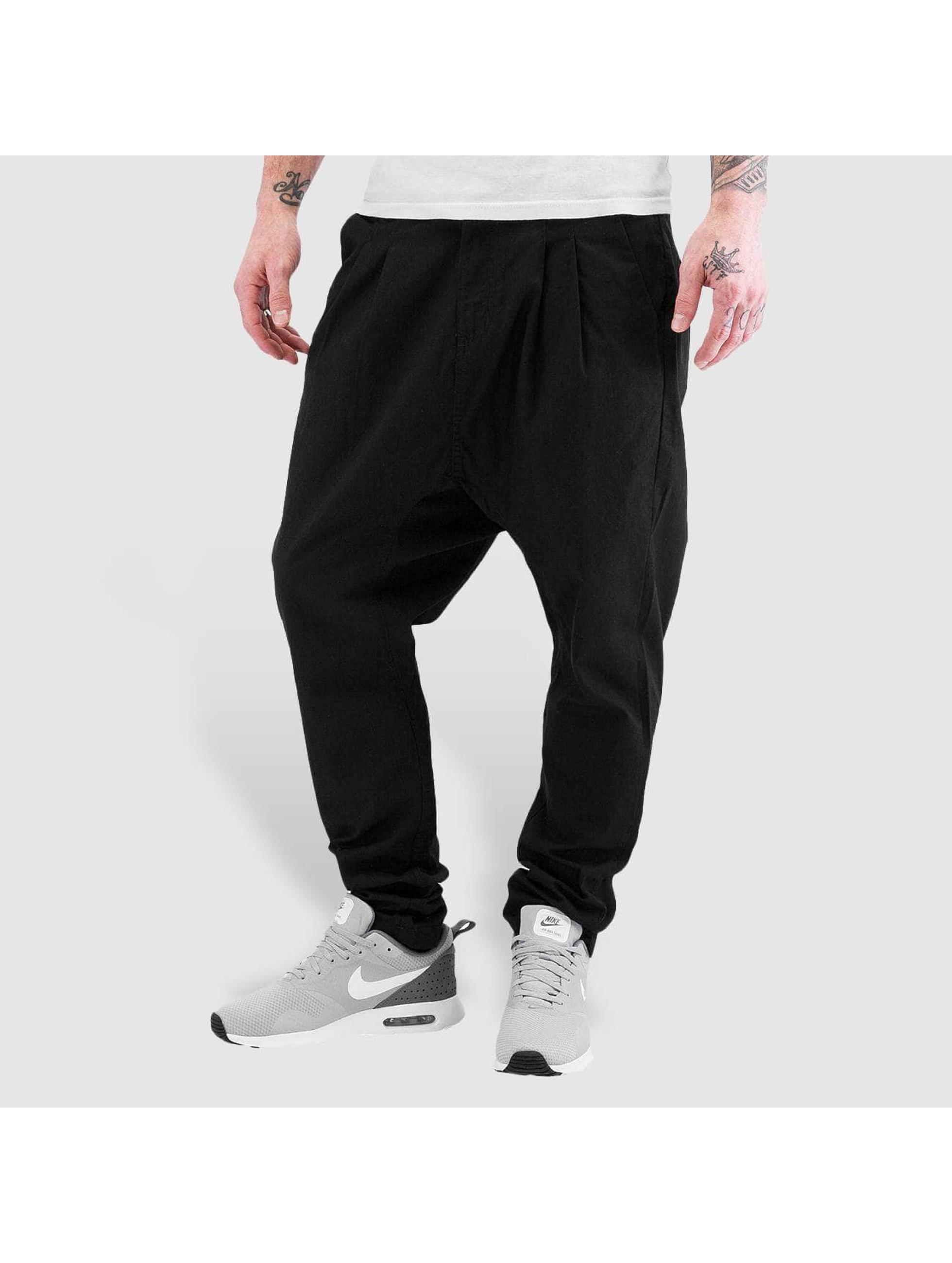 Solid Pantalon chino Bud noir