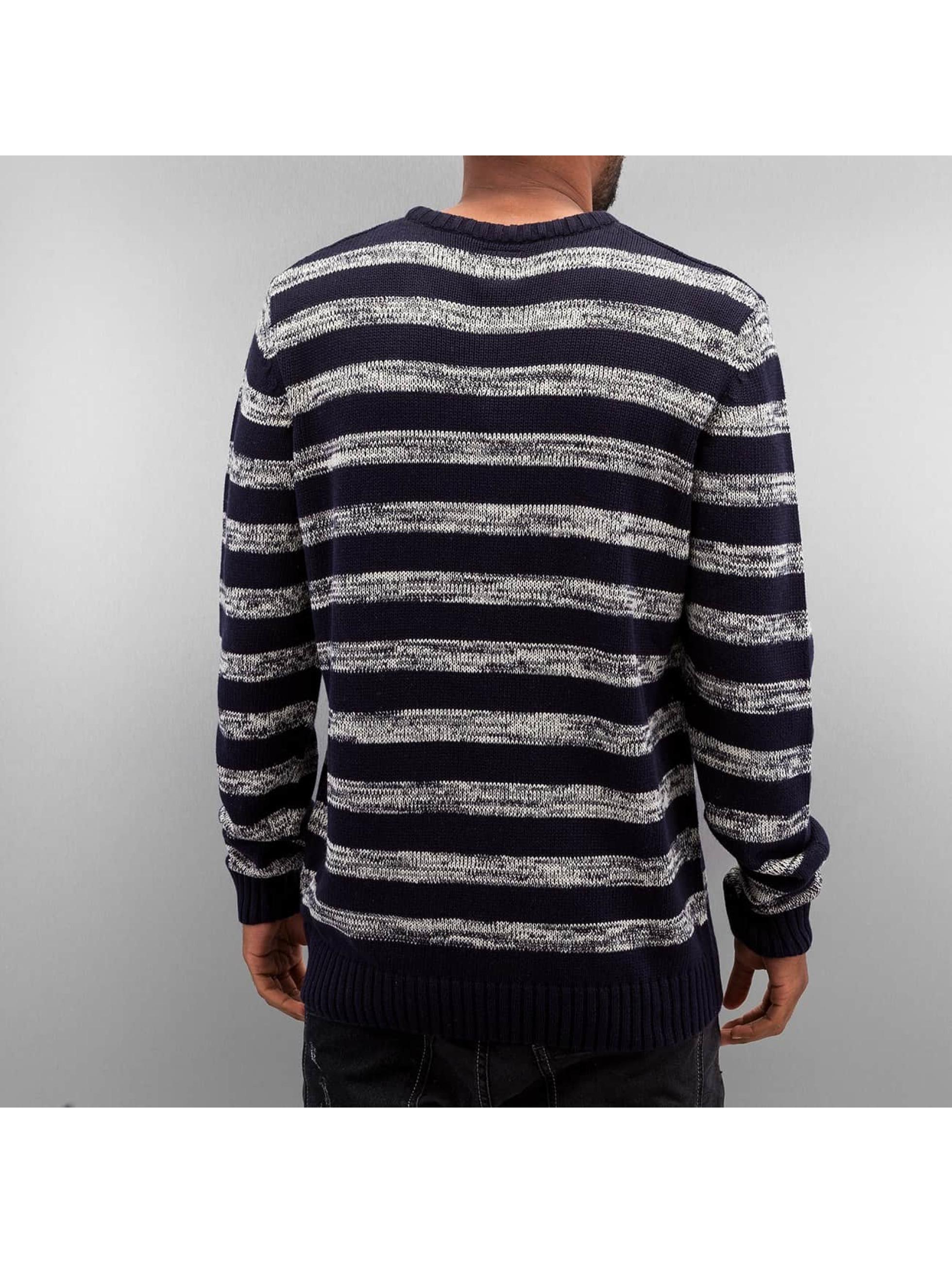 Solid Pullover Knit Duncan blau