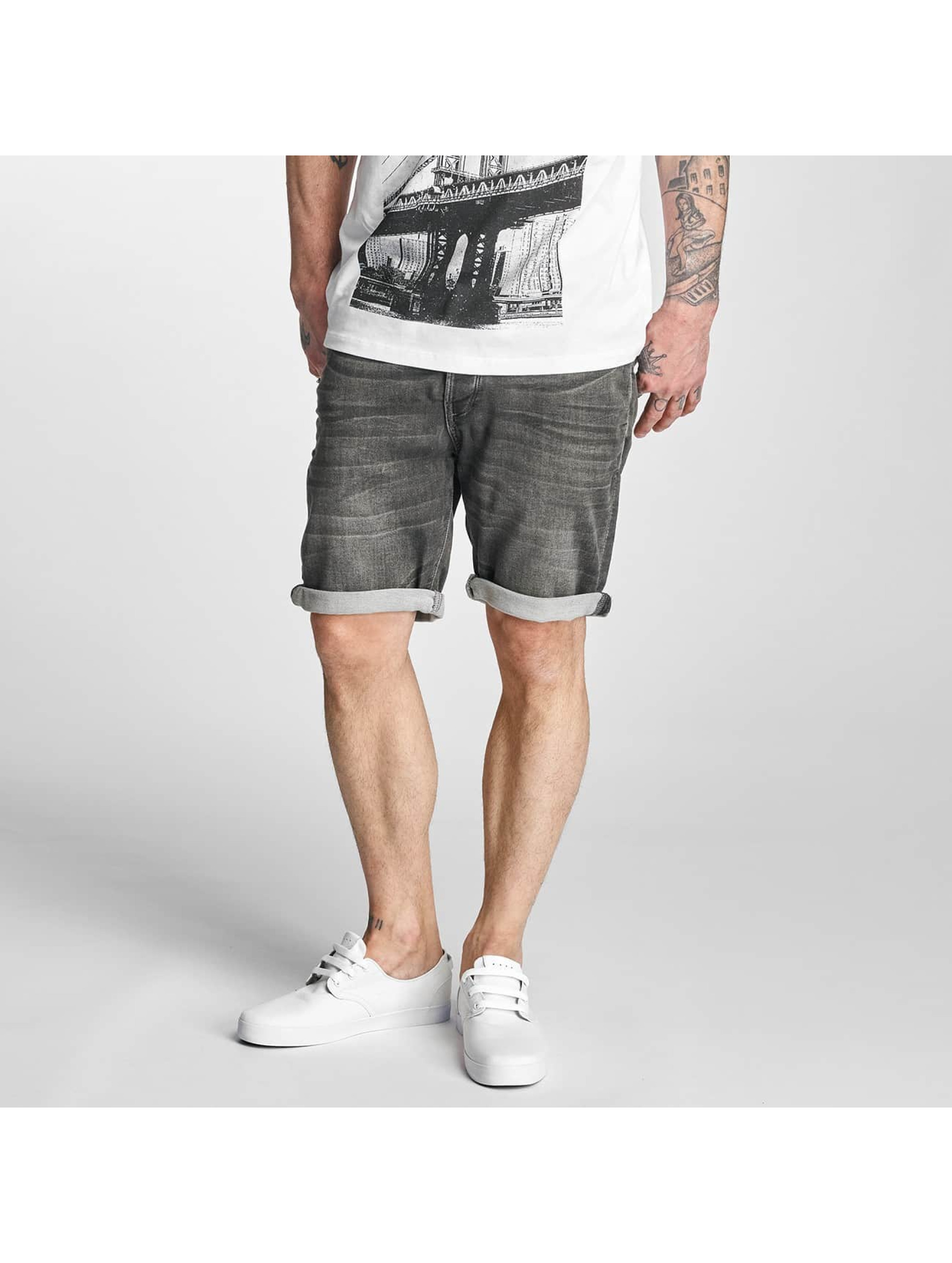 Solid Pantalon / Shorts Denim en gris