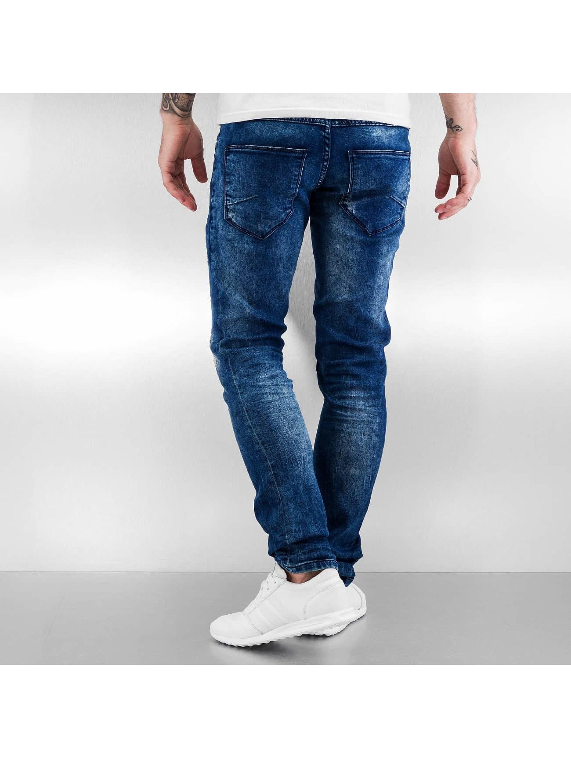 Solid Straight Fit Jeans Joy blau