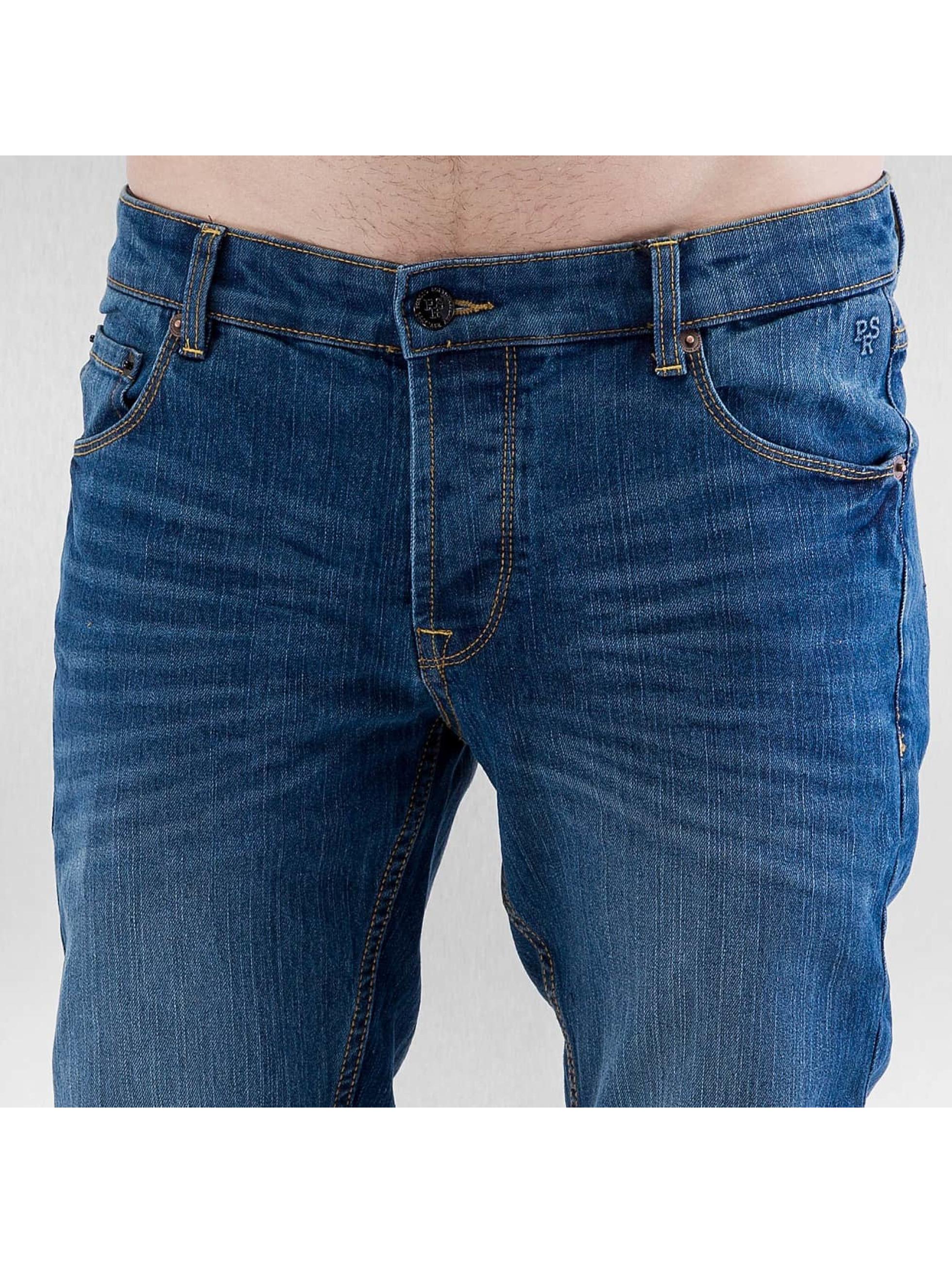Solid Straight fit jeans Joy Stretch blauw