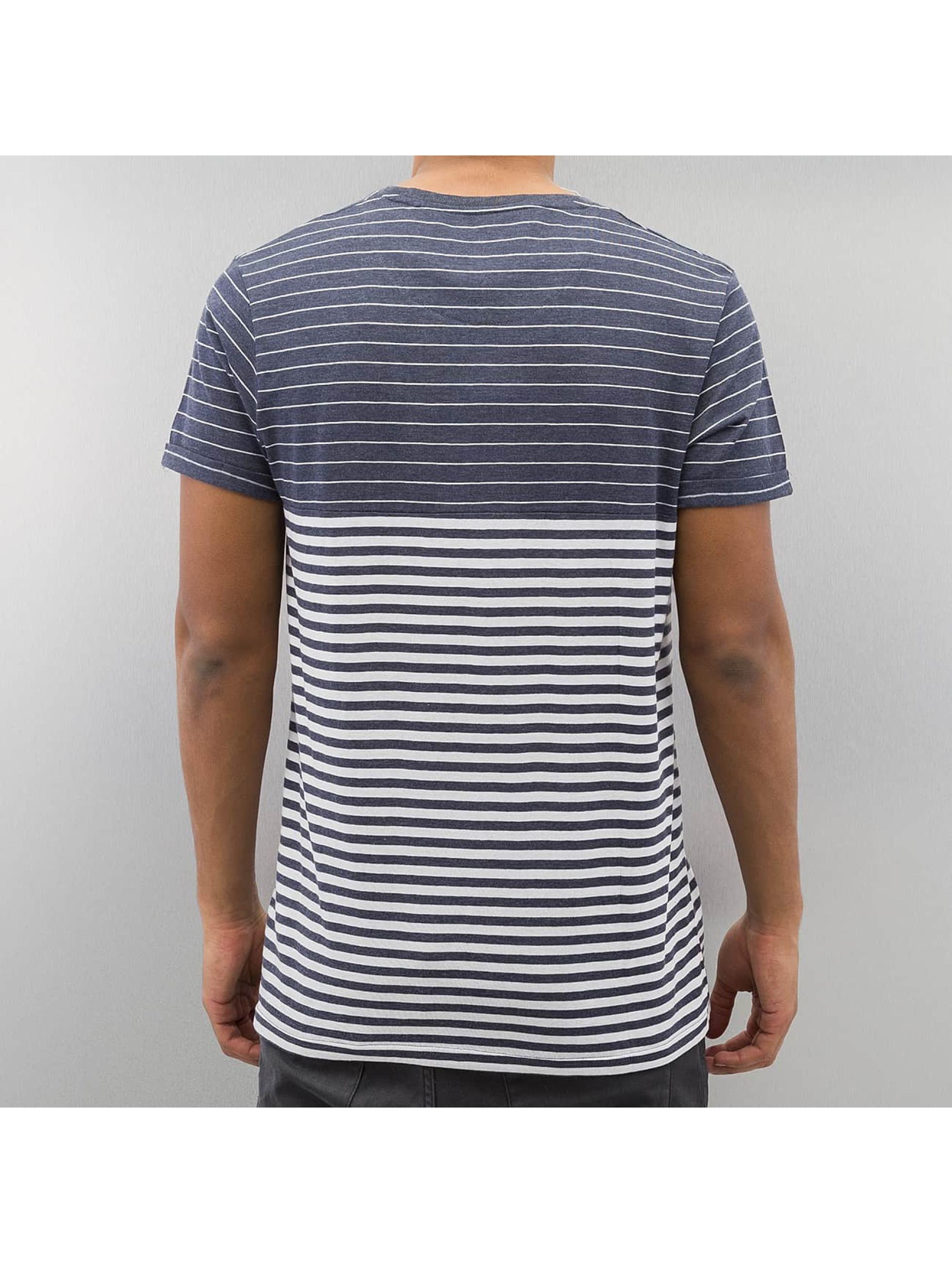 Solid T-Shirt Border blau