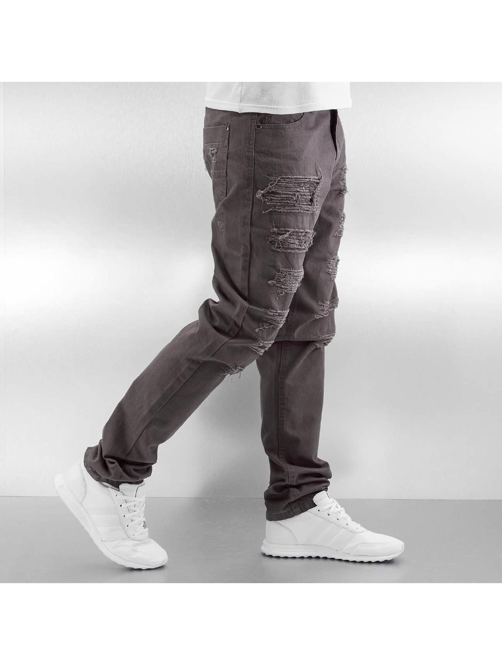 Southpole Dżinsy straight fit Slim brazowy