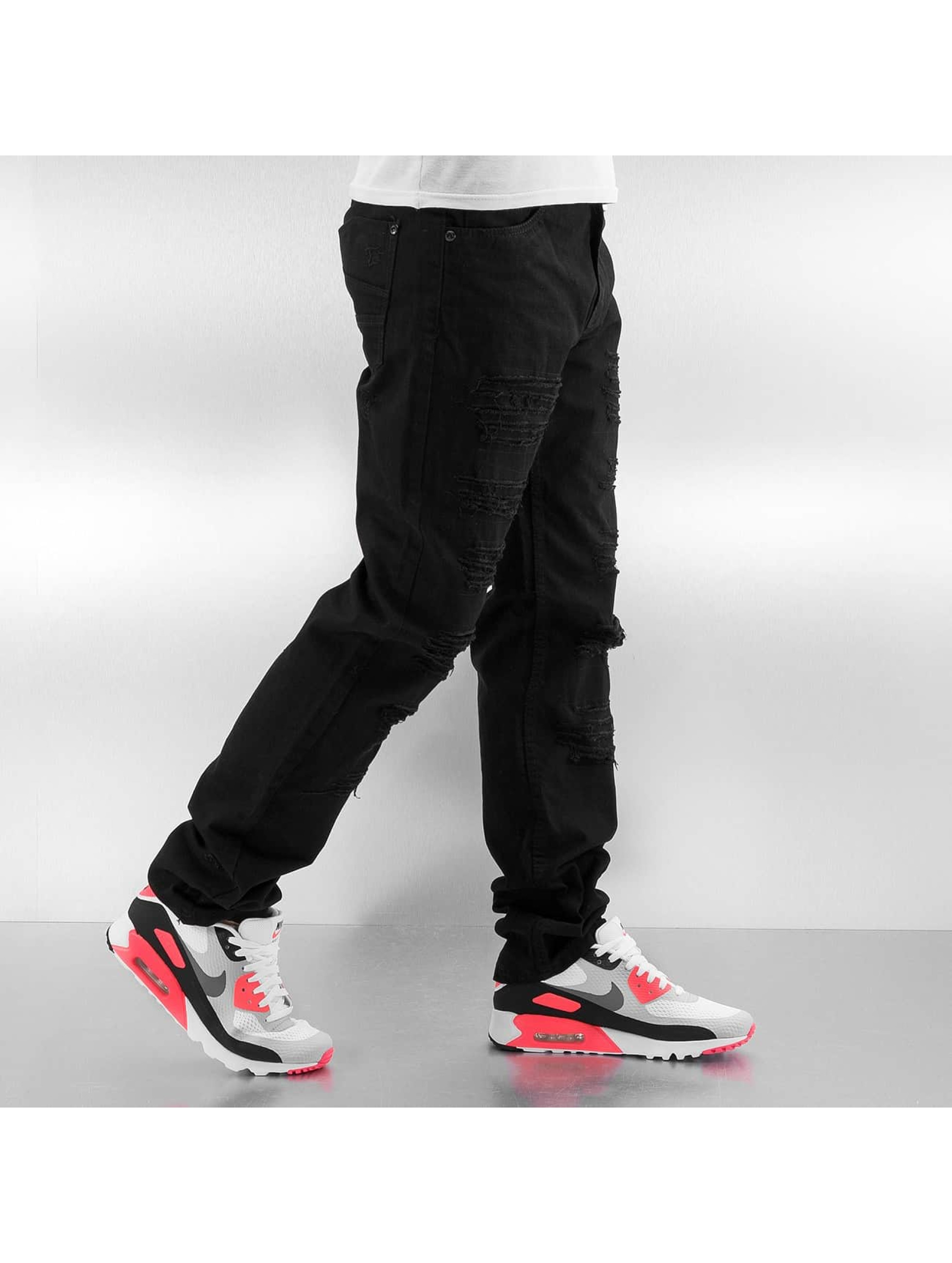 Southpole Dżinsy straight fit Slim czarny