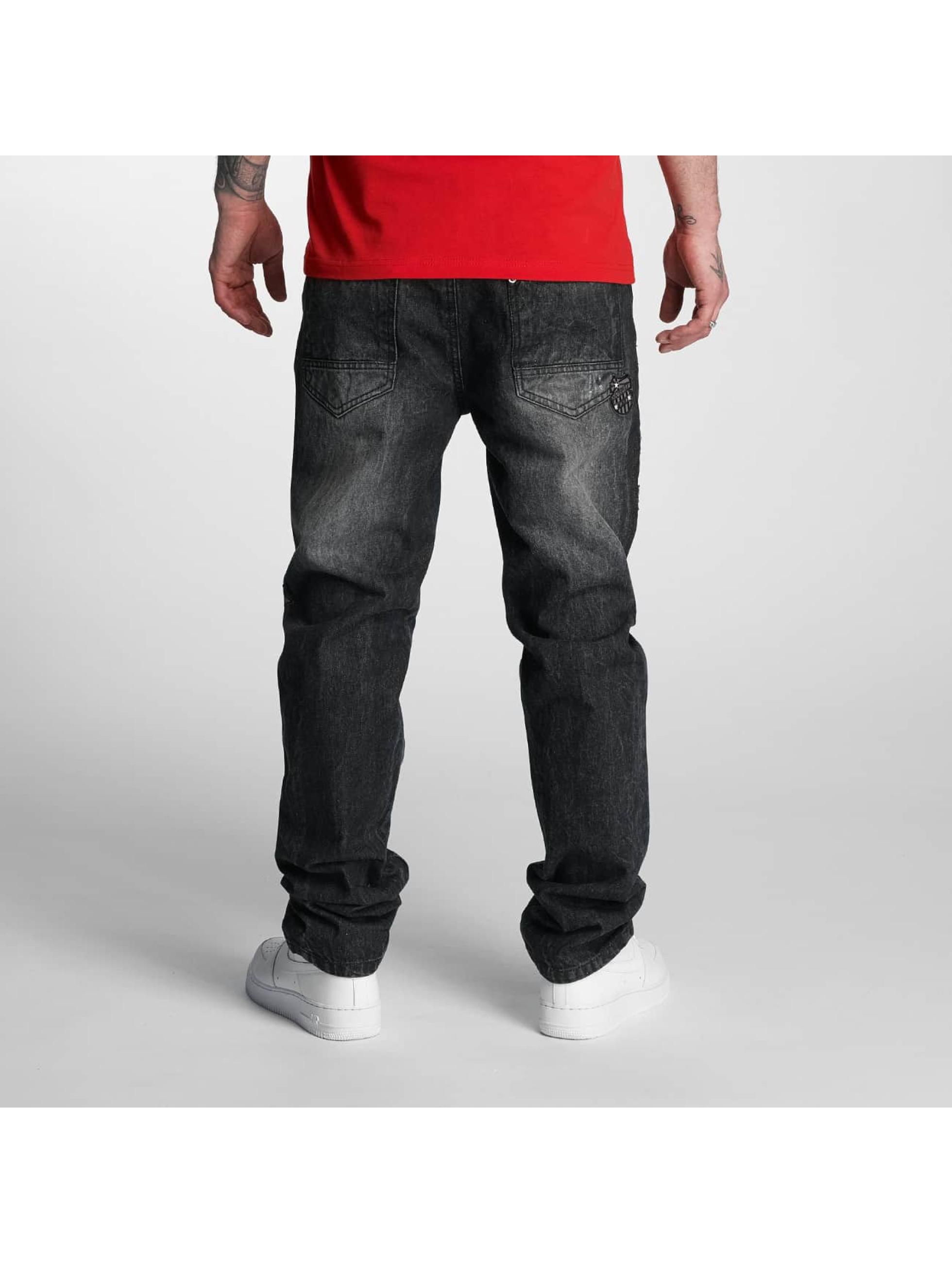 Southpole Dżinsy straight fit Tinted Wash czarny