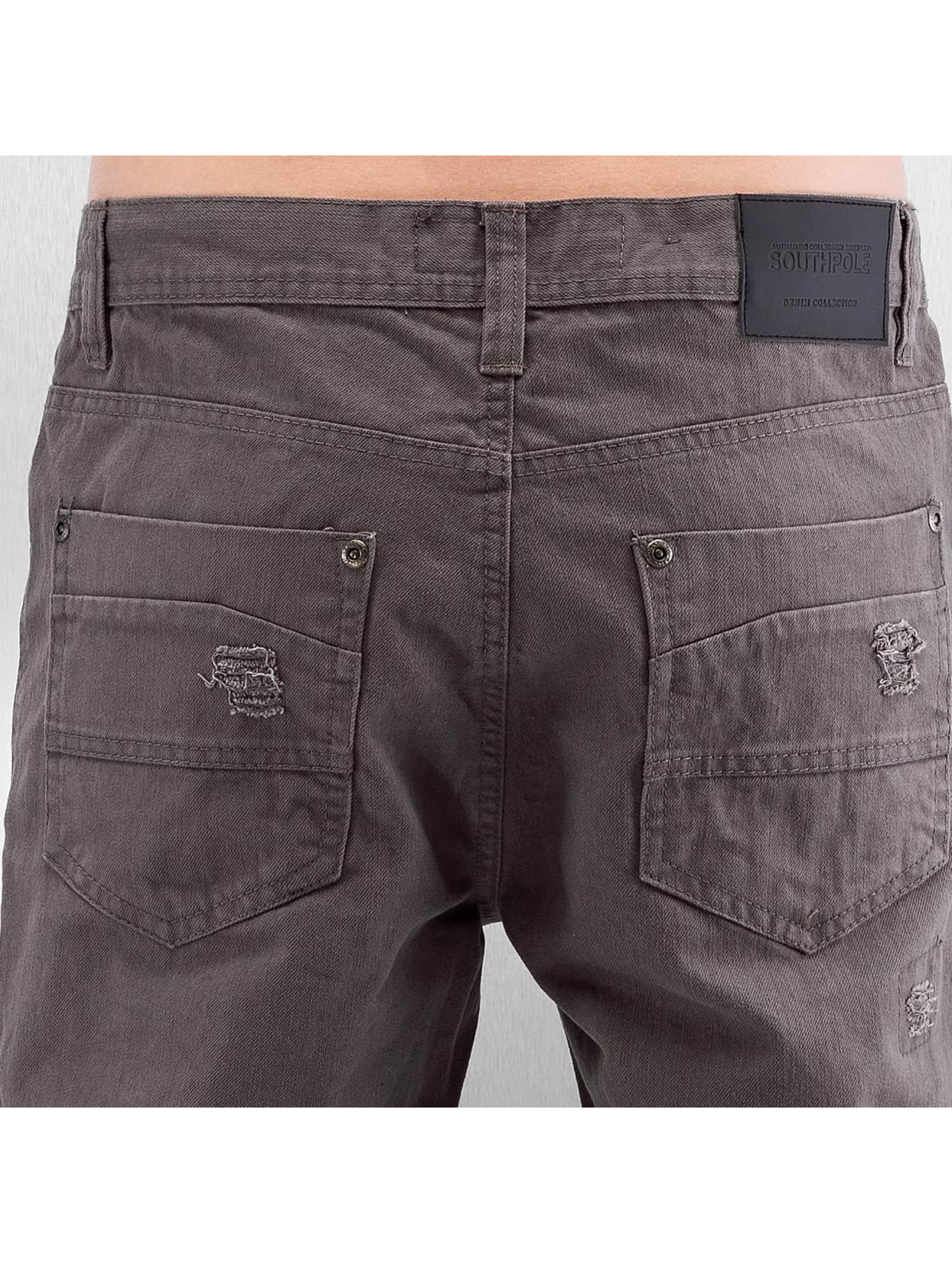 Southpole Jean coupe droite Slim brun