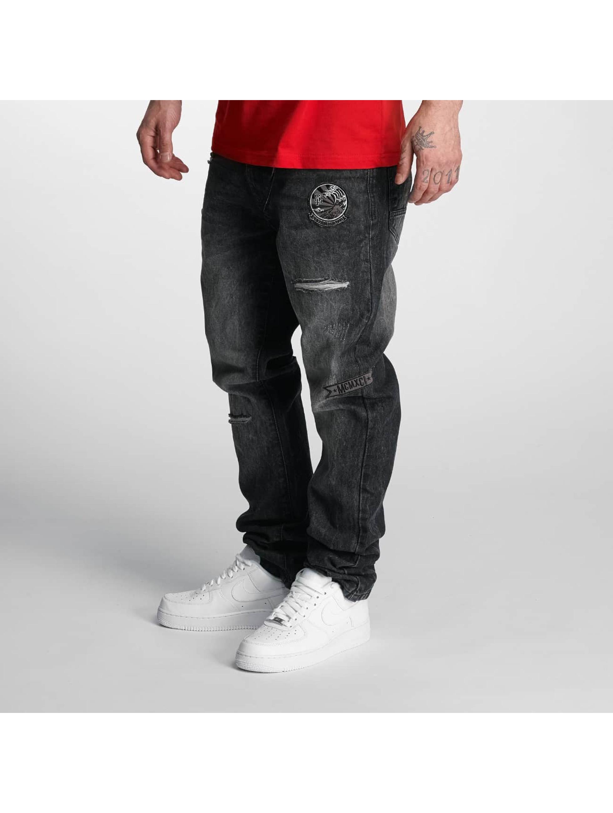 Southpole Jean coupe droite Tinted Wash noir