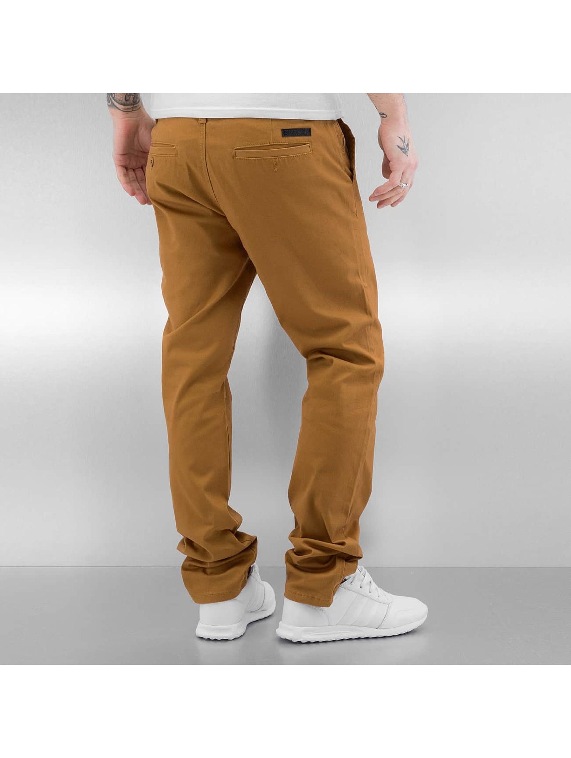 Southpole Kumaş pantolonlar Flex kahverengi