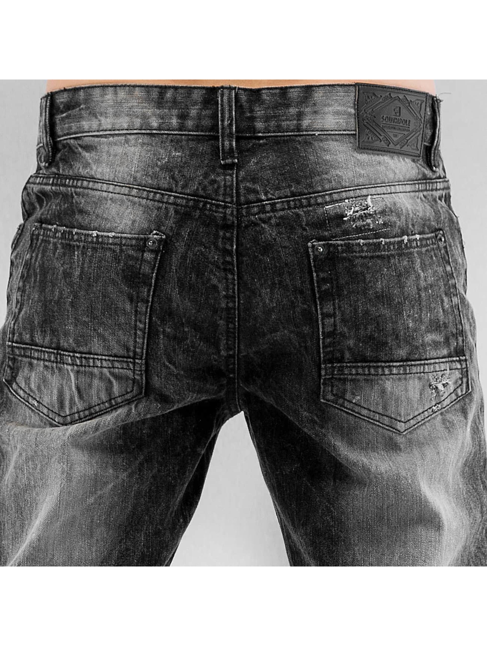 Southpole Slim Fit Jeans Ripped Slim èierna