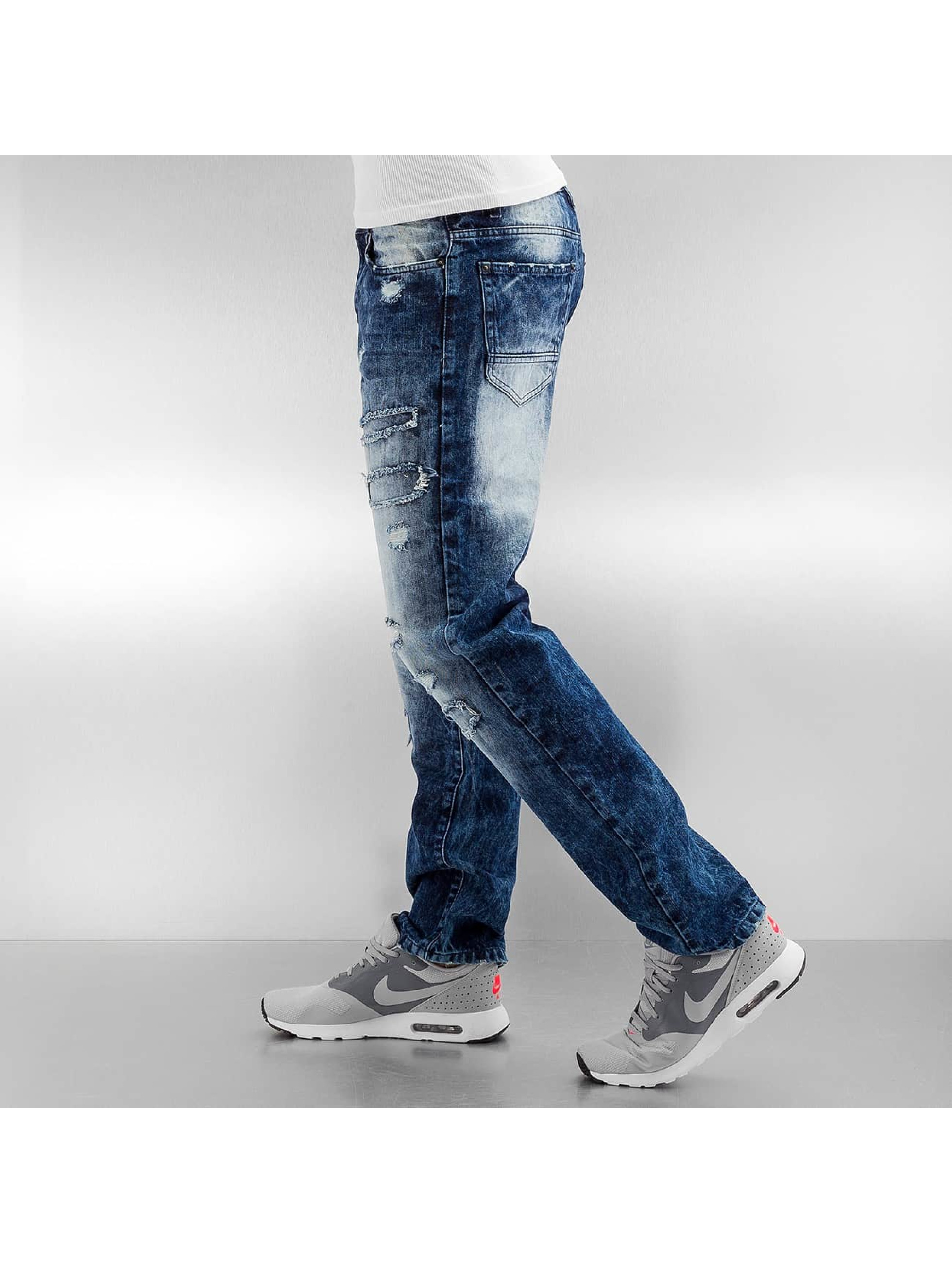 Southpole Slim Fit Jeans Ripped Slim modrá
