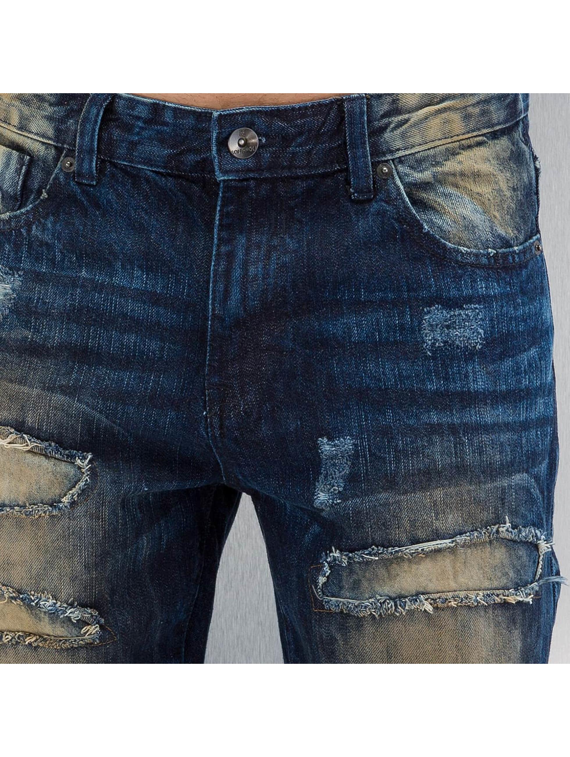 Southpole Slim Fit Jeans Ripped Slim modrá