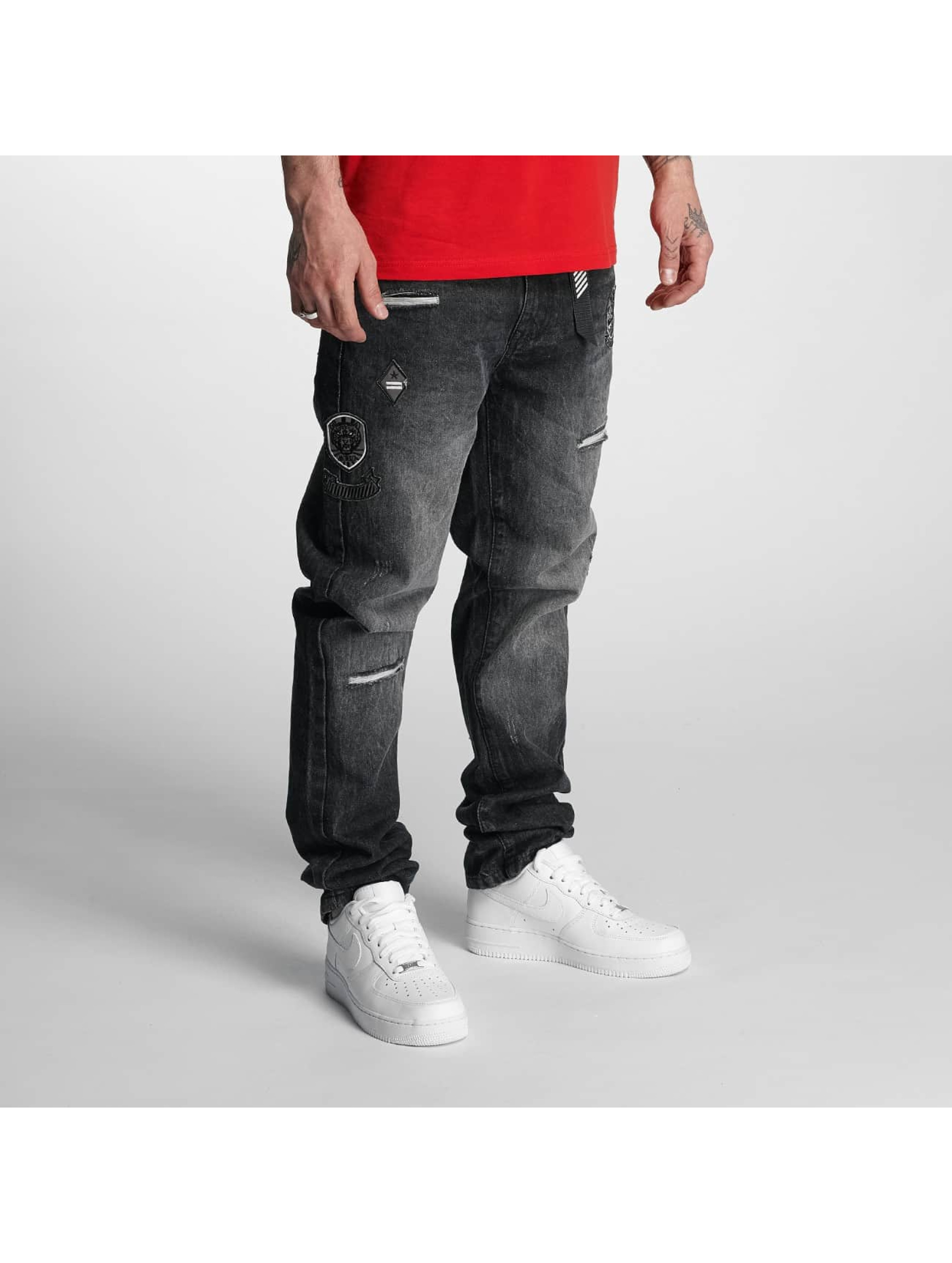 Southpole Straight Fit Jeans Tinted Wash čern