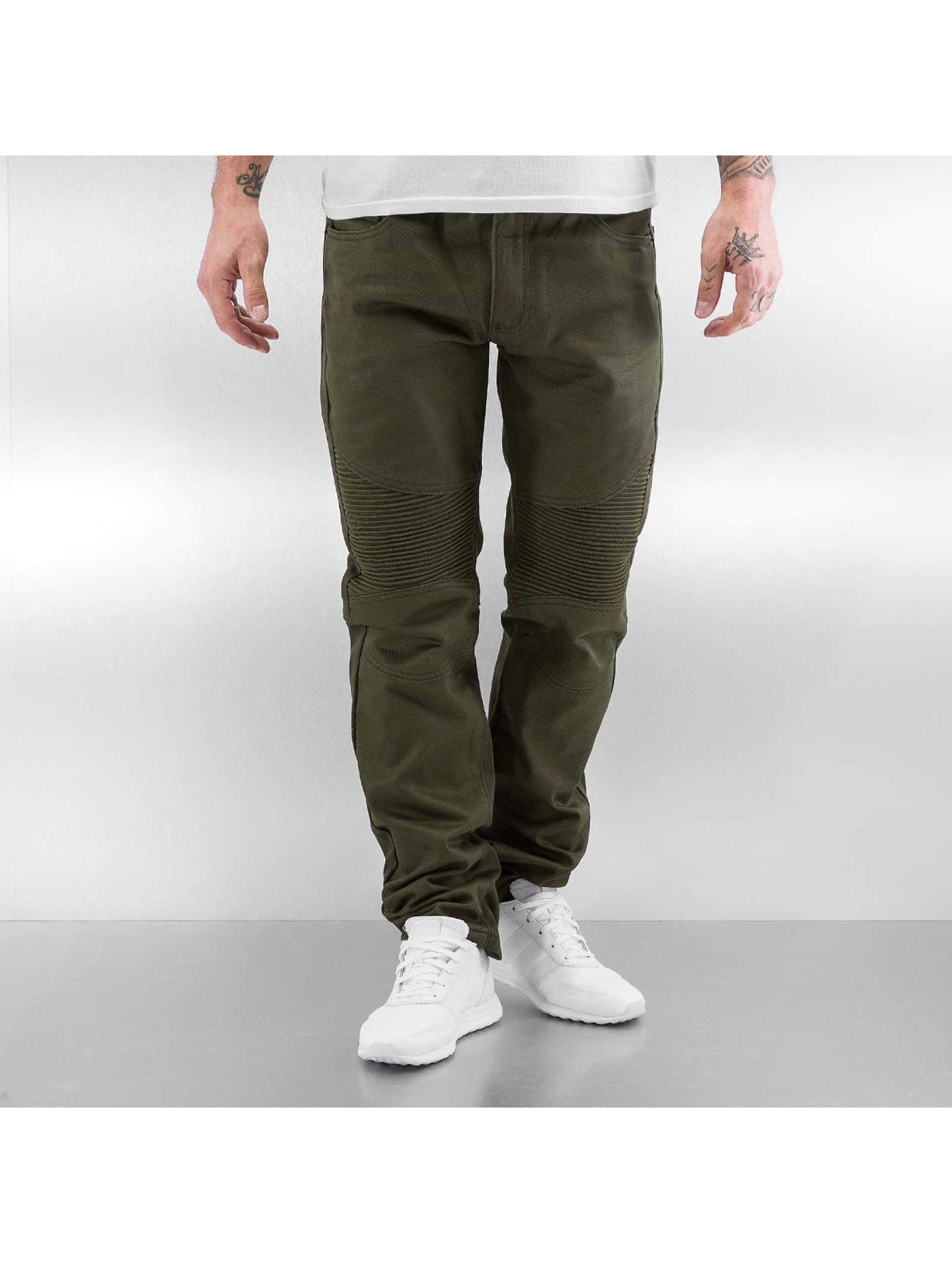 Southpole Straight fit jeans Stepp olijfgroen
