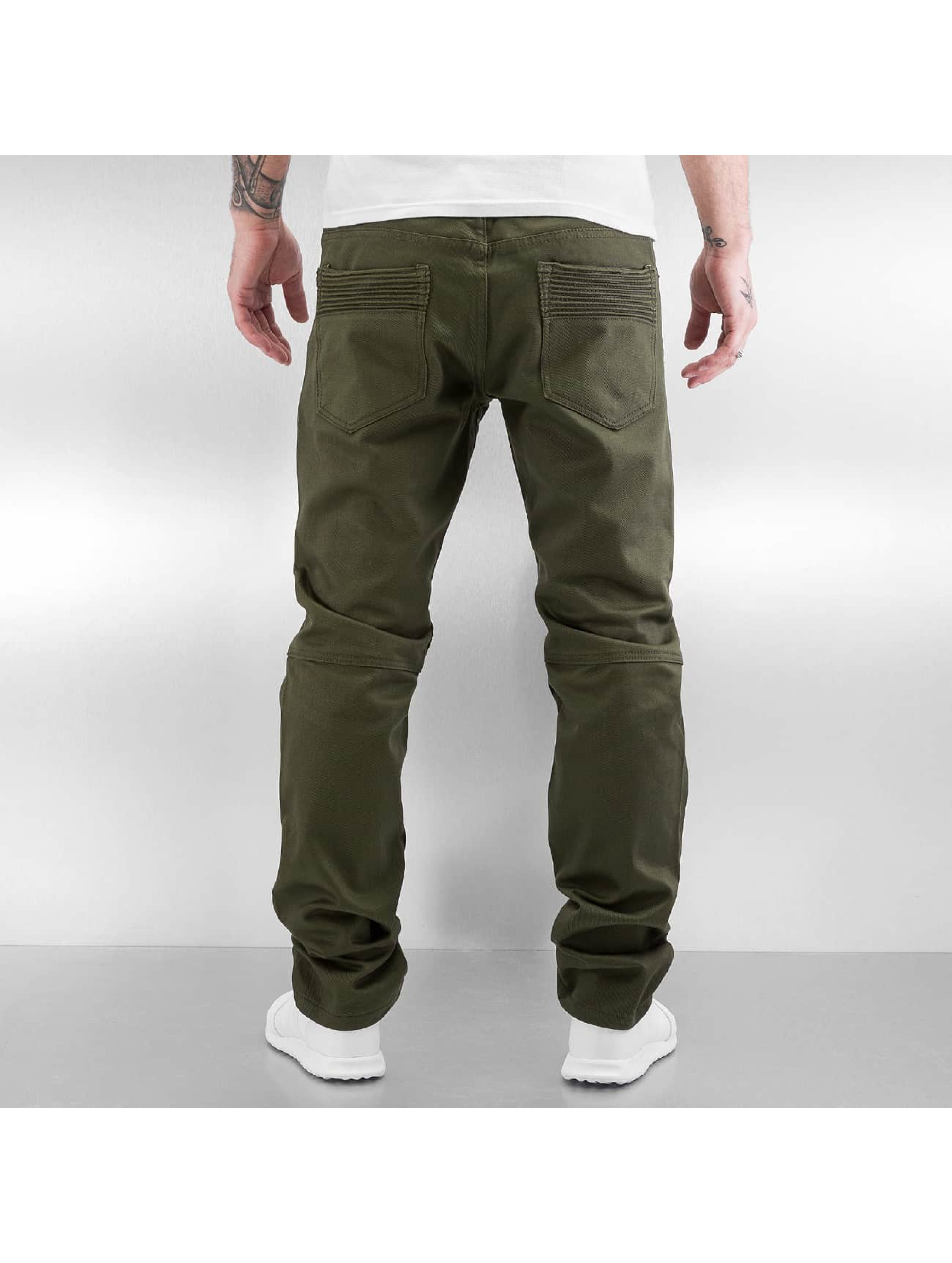 Southpole Straight Fit Jeans Stepp oliven