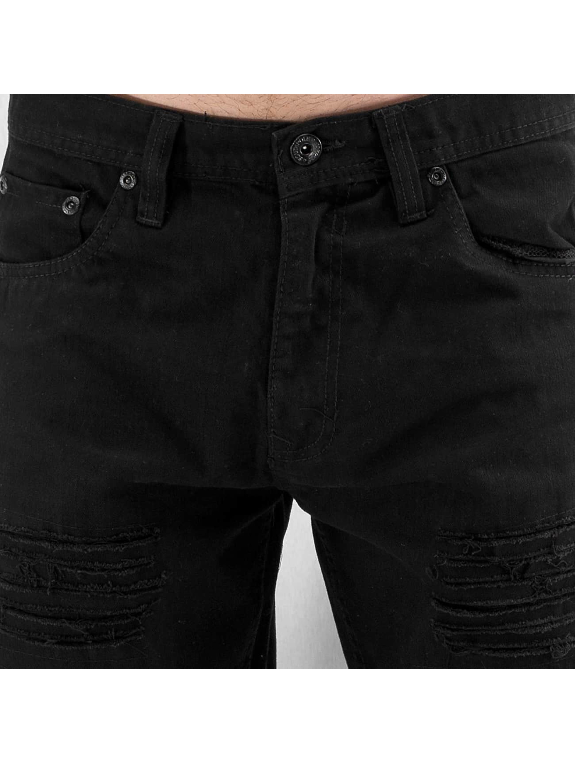 Southpole Straight Fit Jeans Slim svart