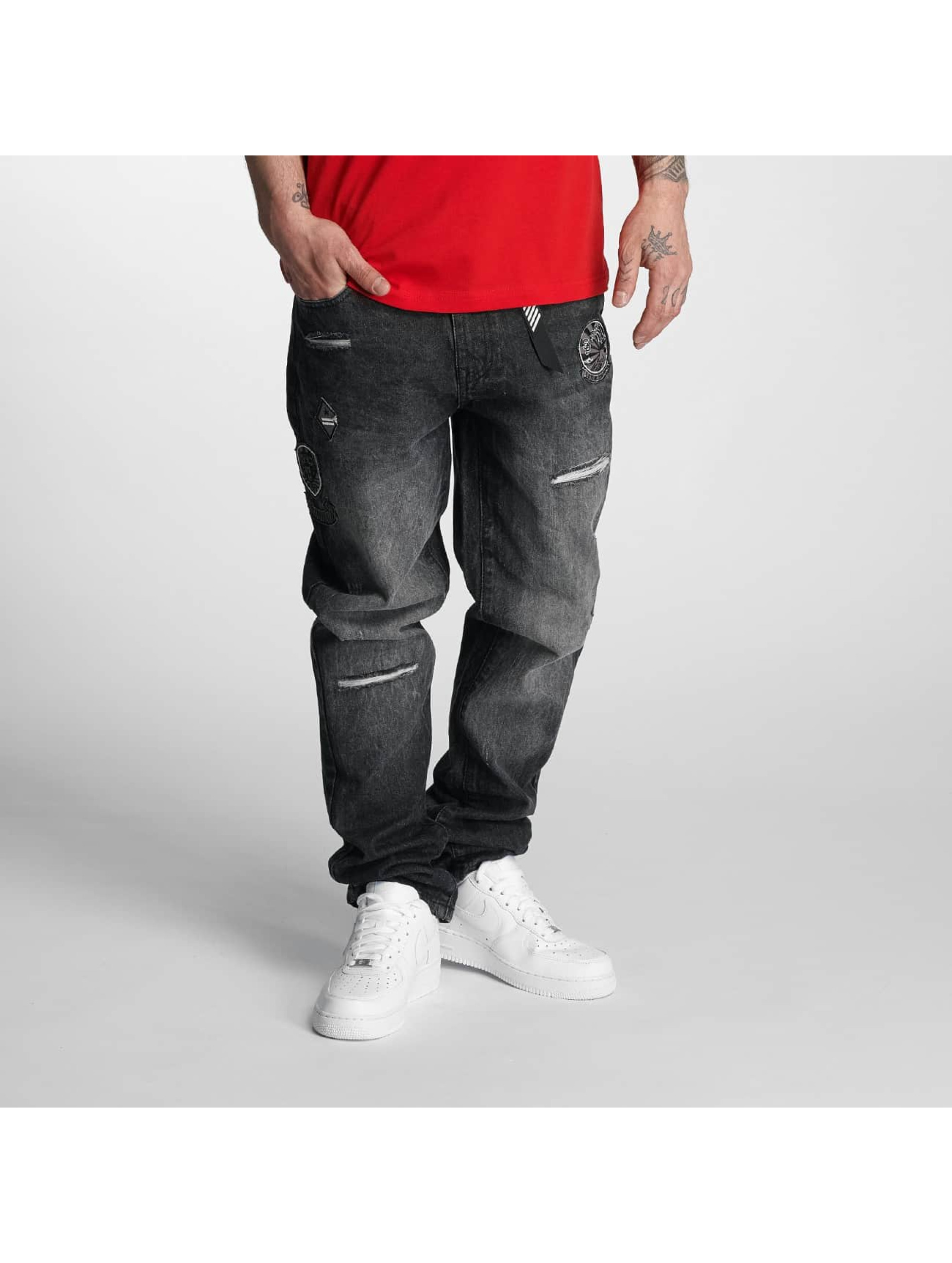 Southpole Straight fit jeans Tinted Wash zwart