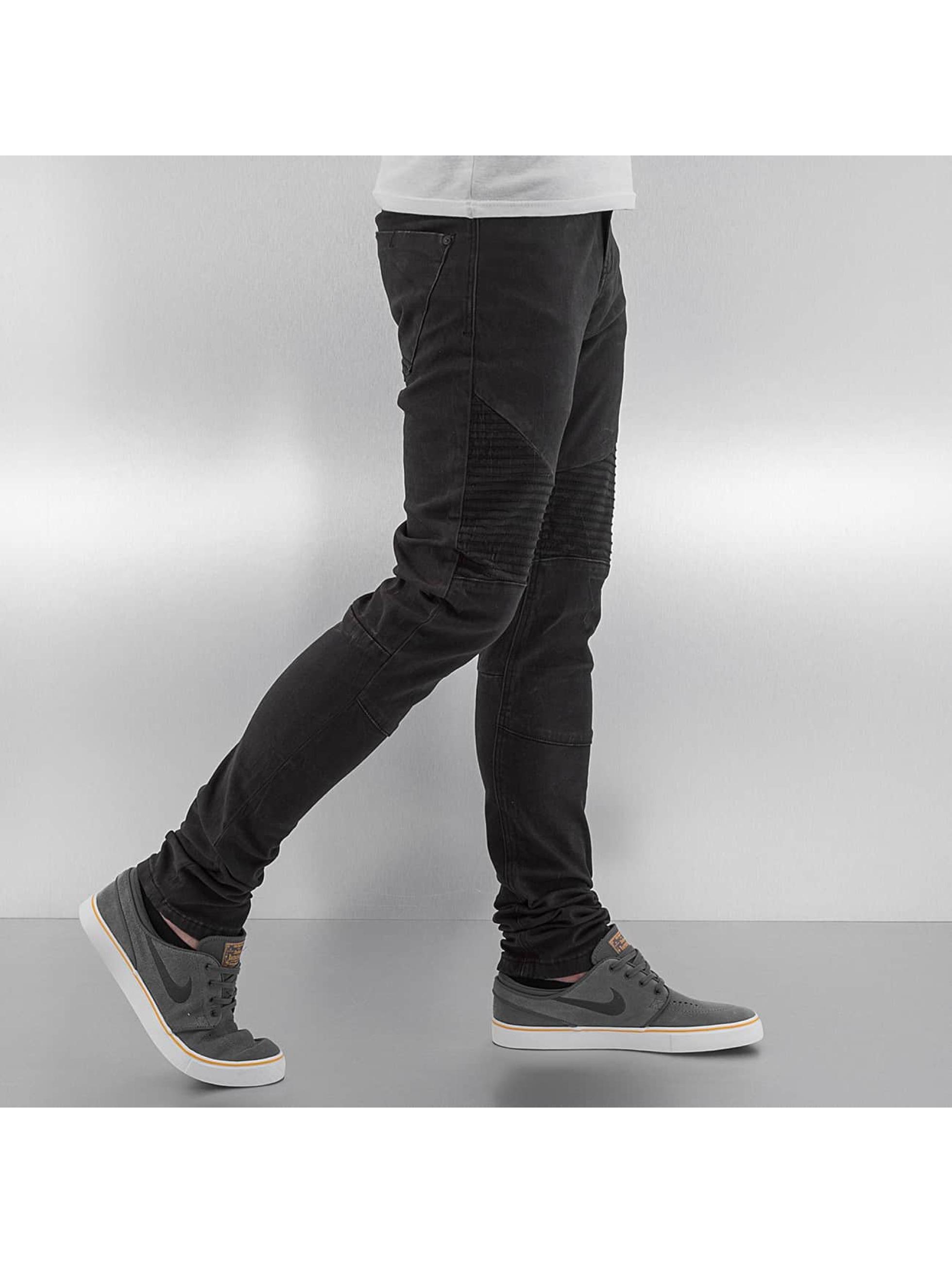 Sublevel Облегающие джинсы Skinny Biker серый