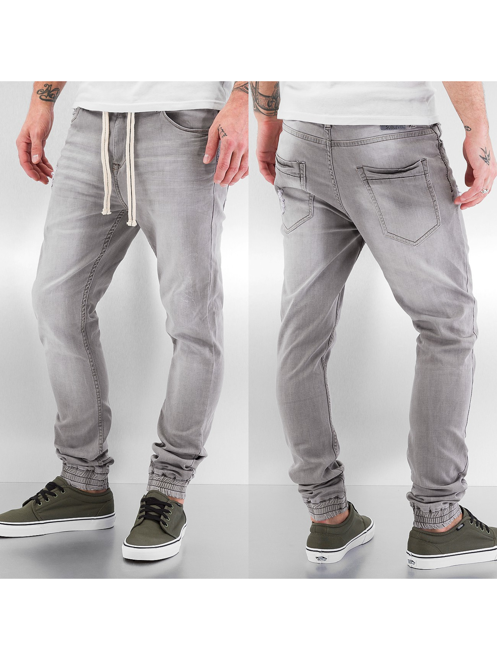 Sublevel Jean coupe droite Time gris
