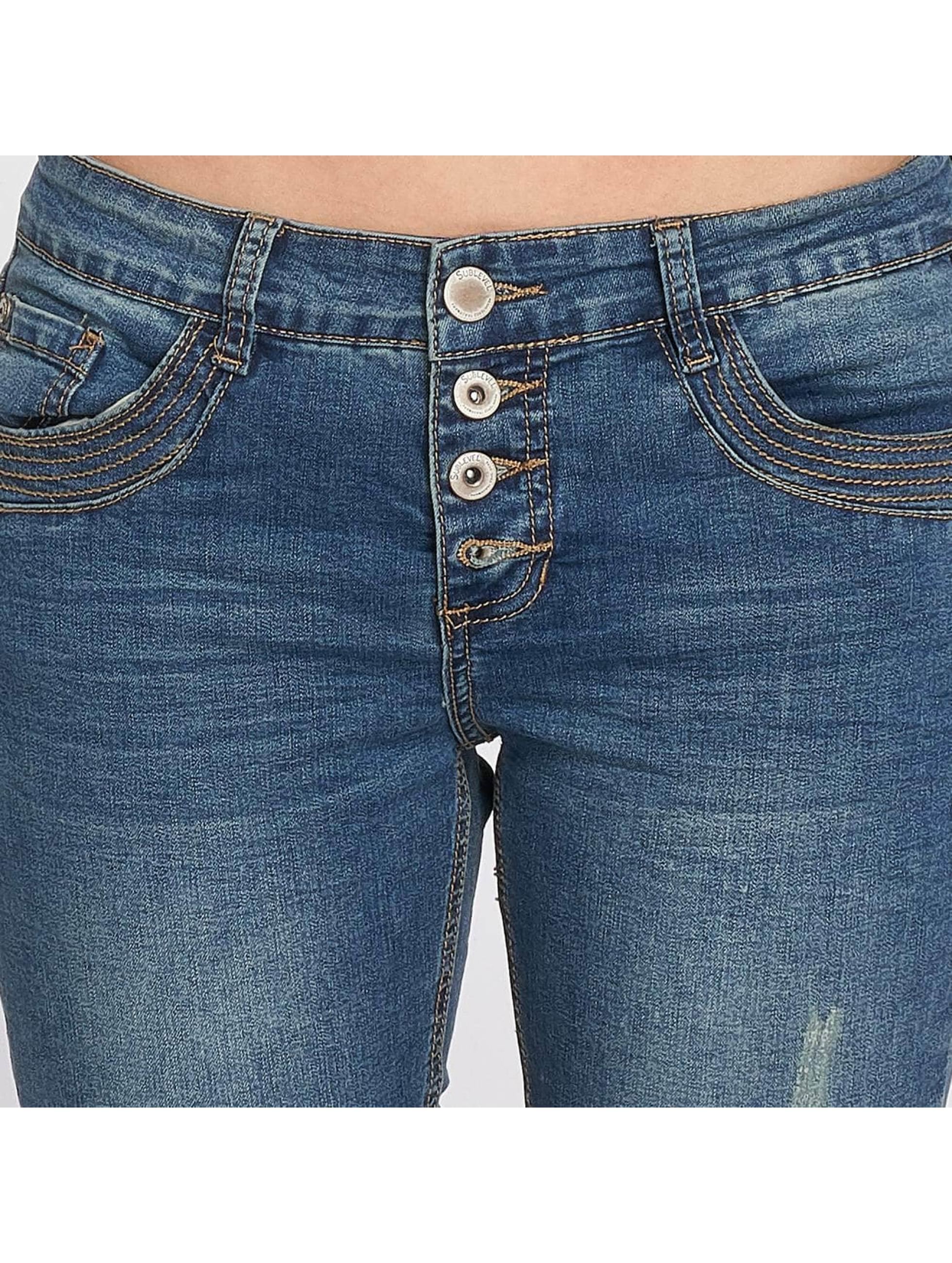 Sublevel Slim Fit Jeans Jonas modrá