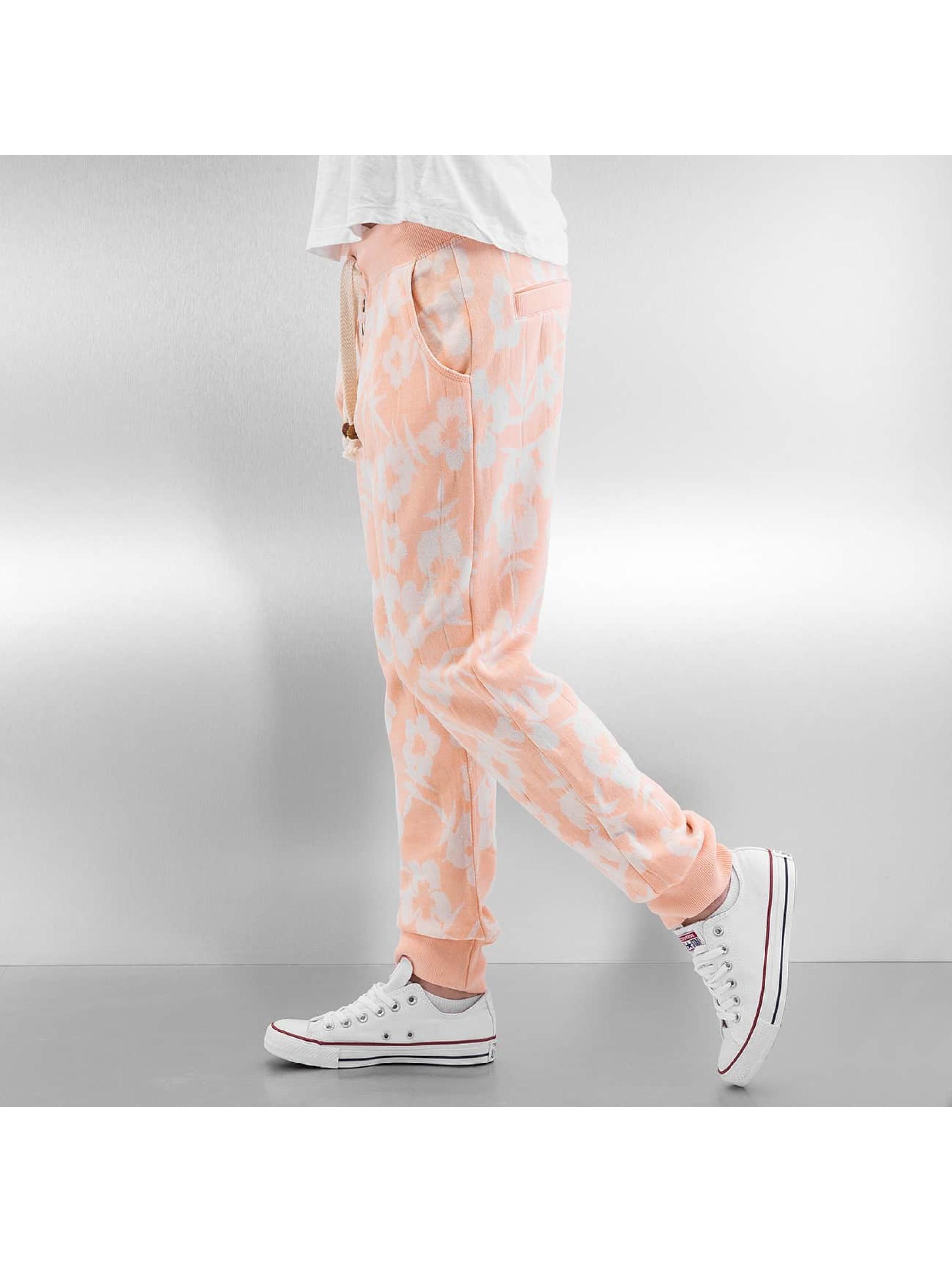 Sublevel Spodnie do joggingu Flowers pomaranczowy