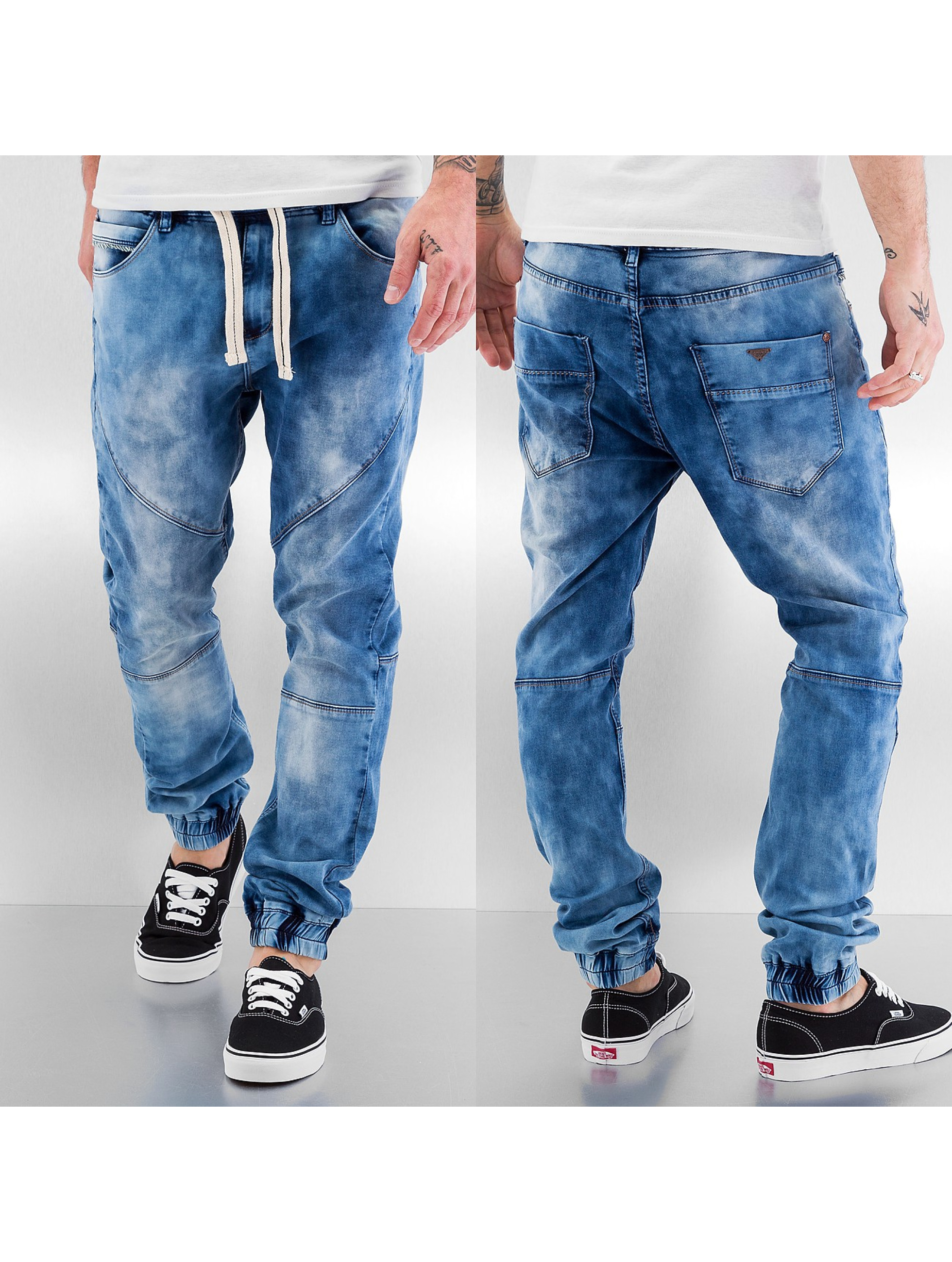 Sublevel Straight Fit Jeans Time II blau