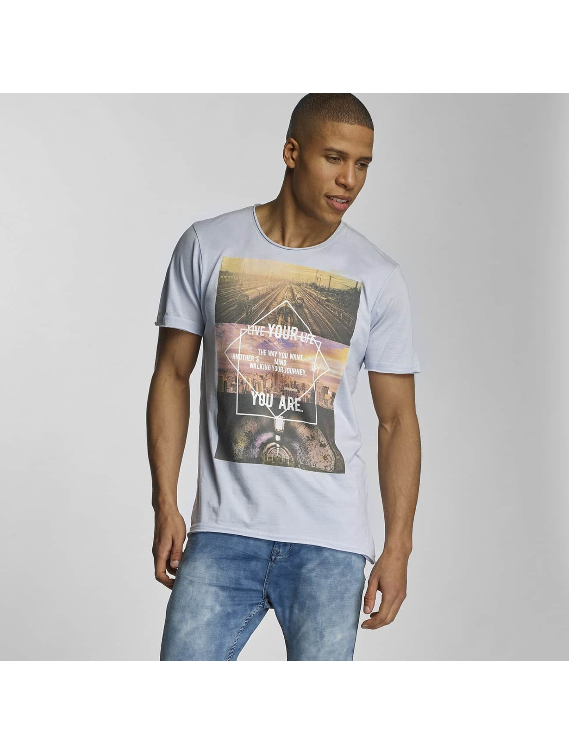 Sublevel T-Shirt Live Your Life blue