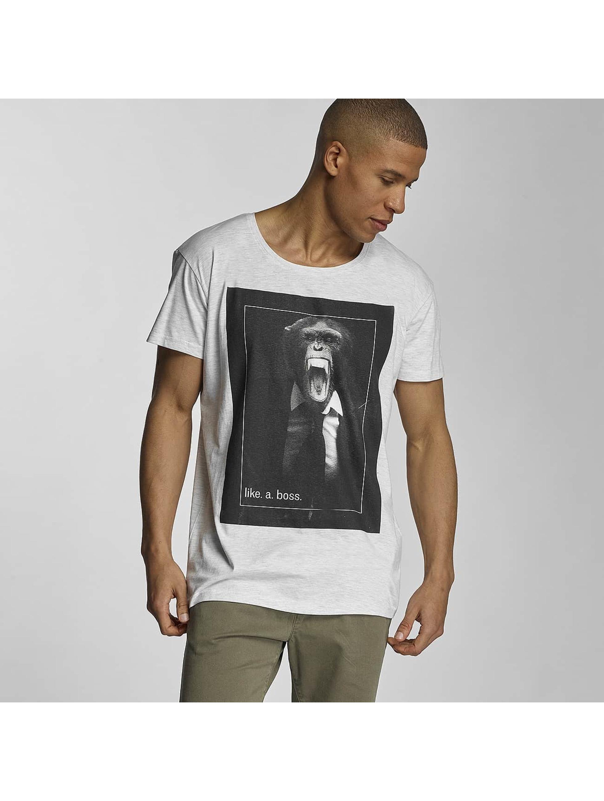 Sublevel T-Shirt like a boss grau