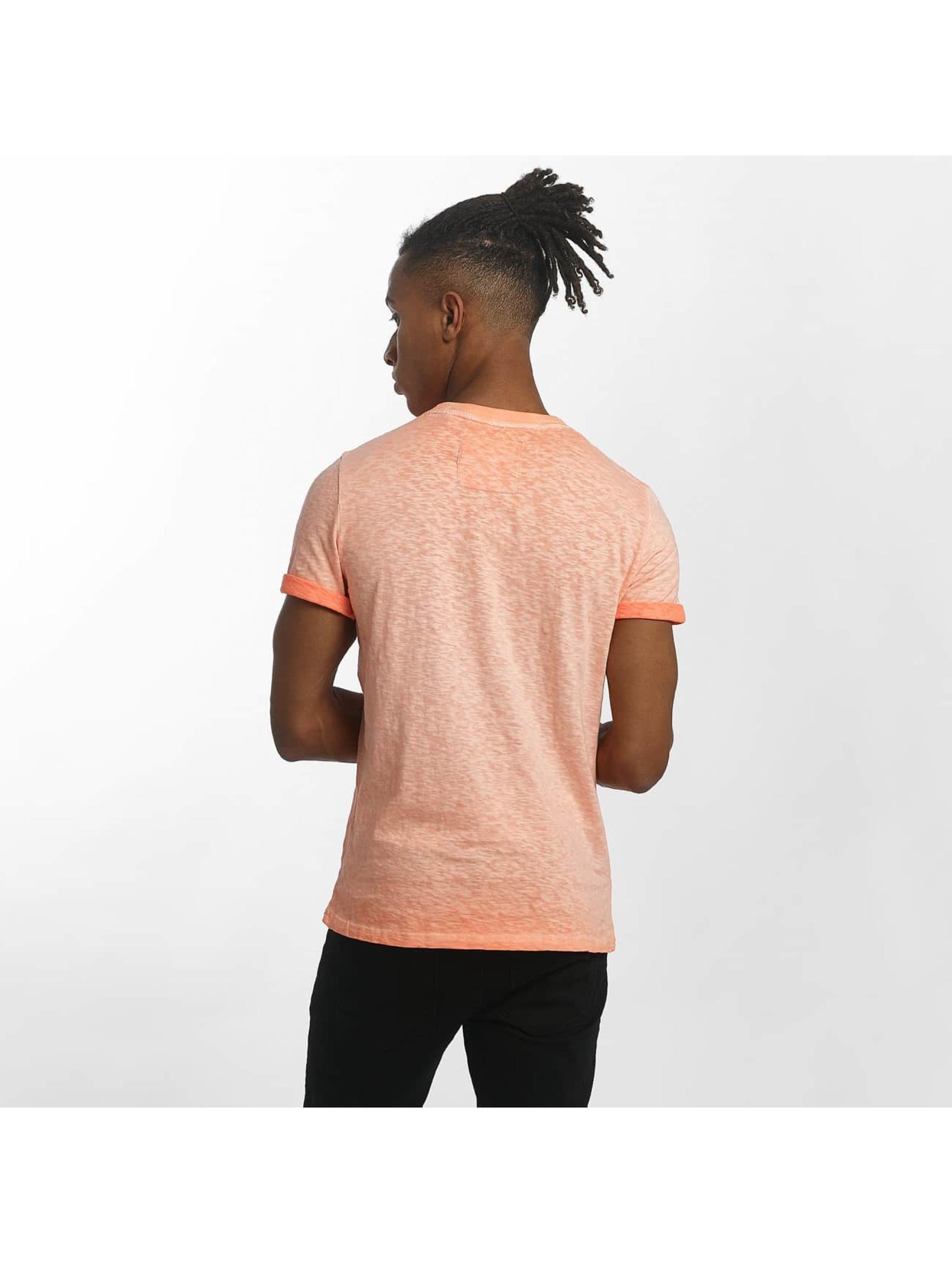 superdry herren t shirt orange labl low roller in orange 429840. Black Bedroom Furniture Sets. Home Design Ideas