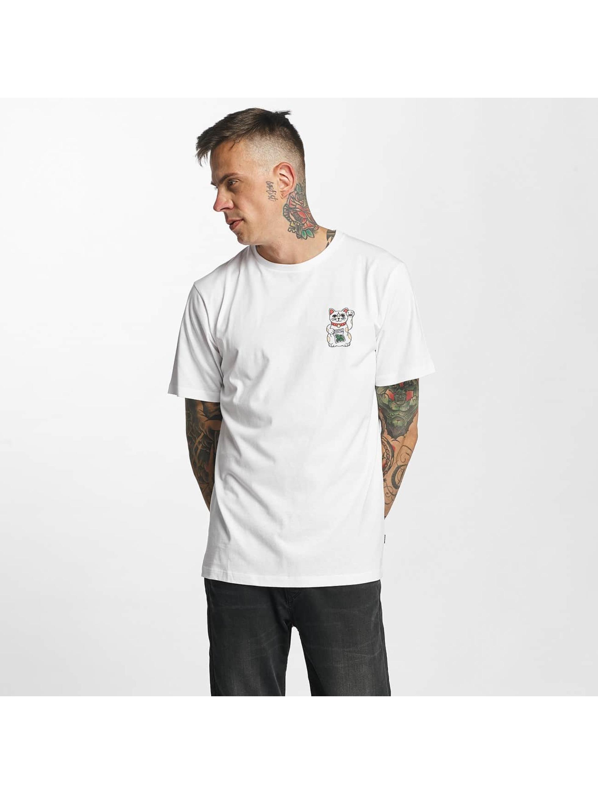 Tealer T-Shirt Pray For Cat weiß