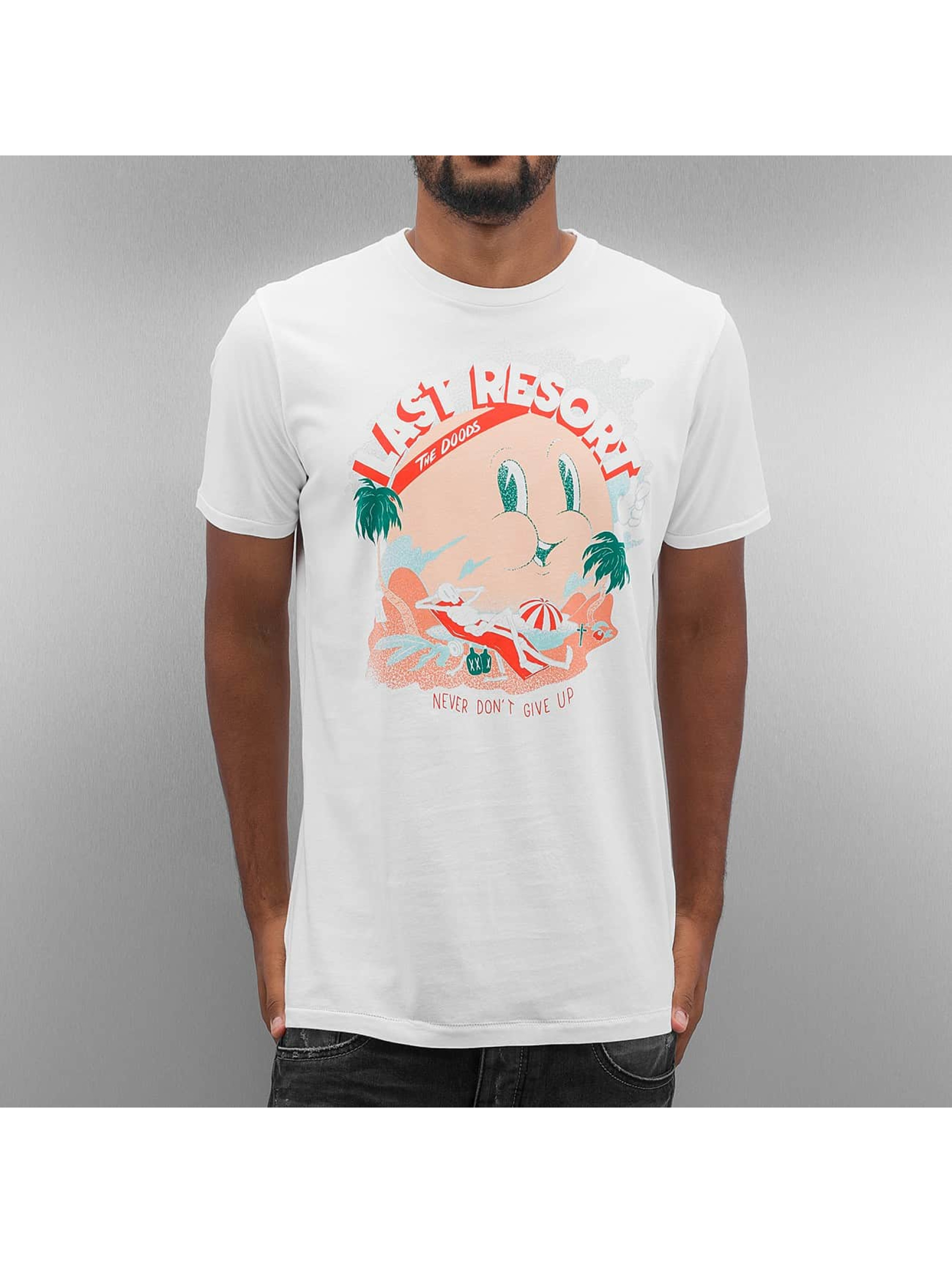 The Dudes T-Shirt Last Resort blanc