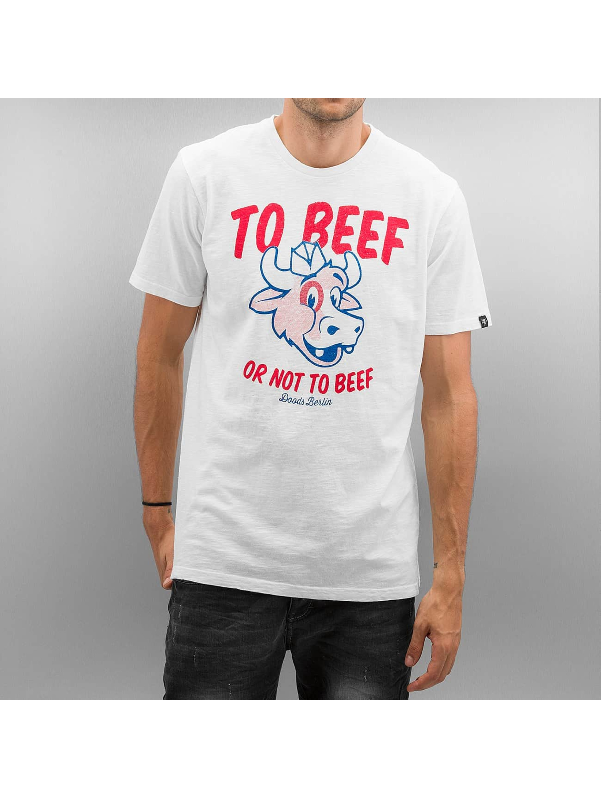 The Dudes T-Shirt Beef blanc