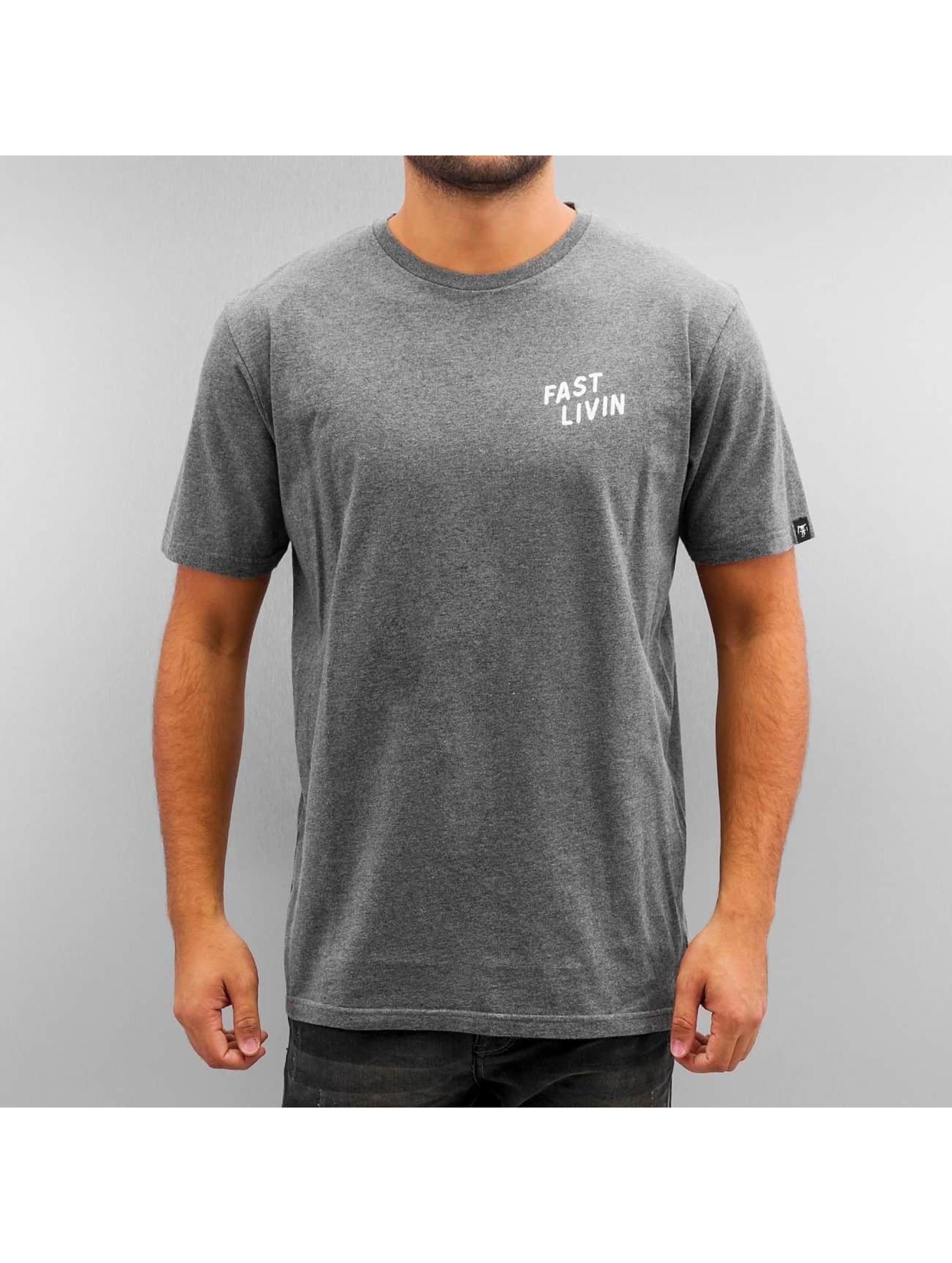 The Dudes T-shirt Pizza grå