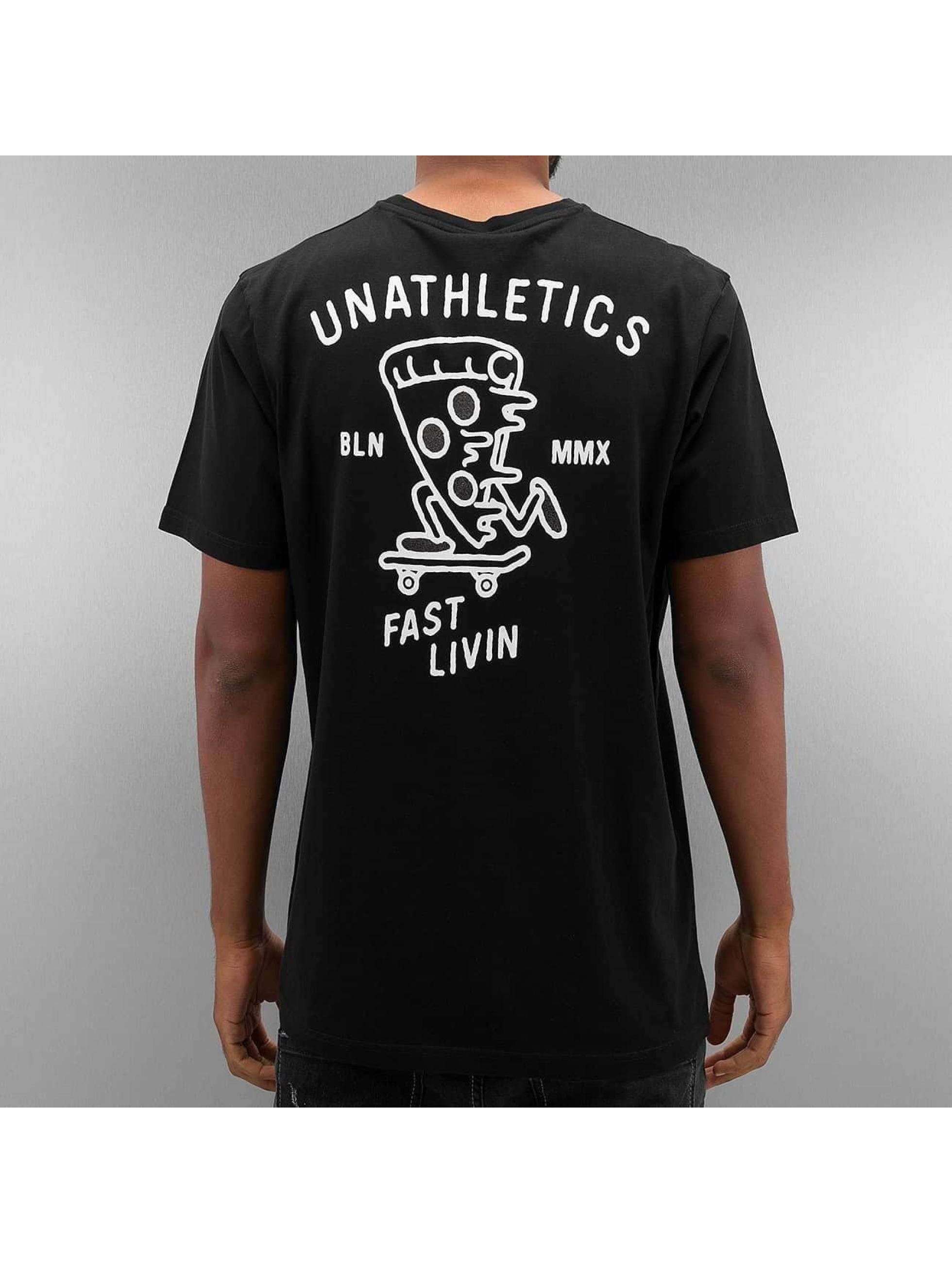 The Dudes t-shirt Pizza zwart