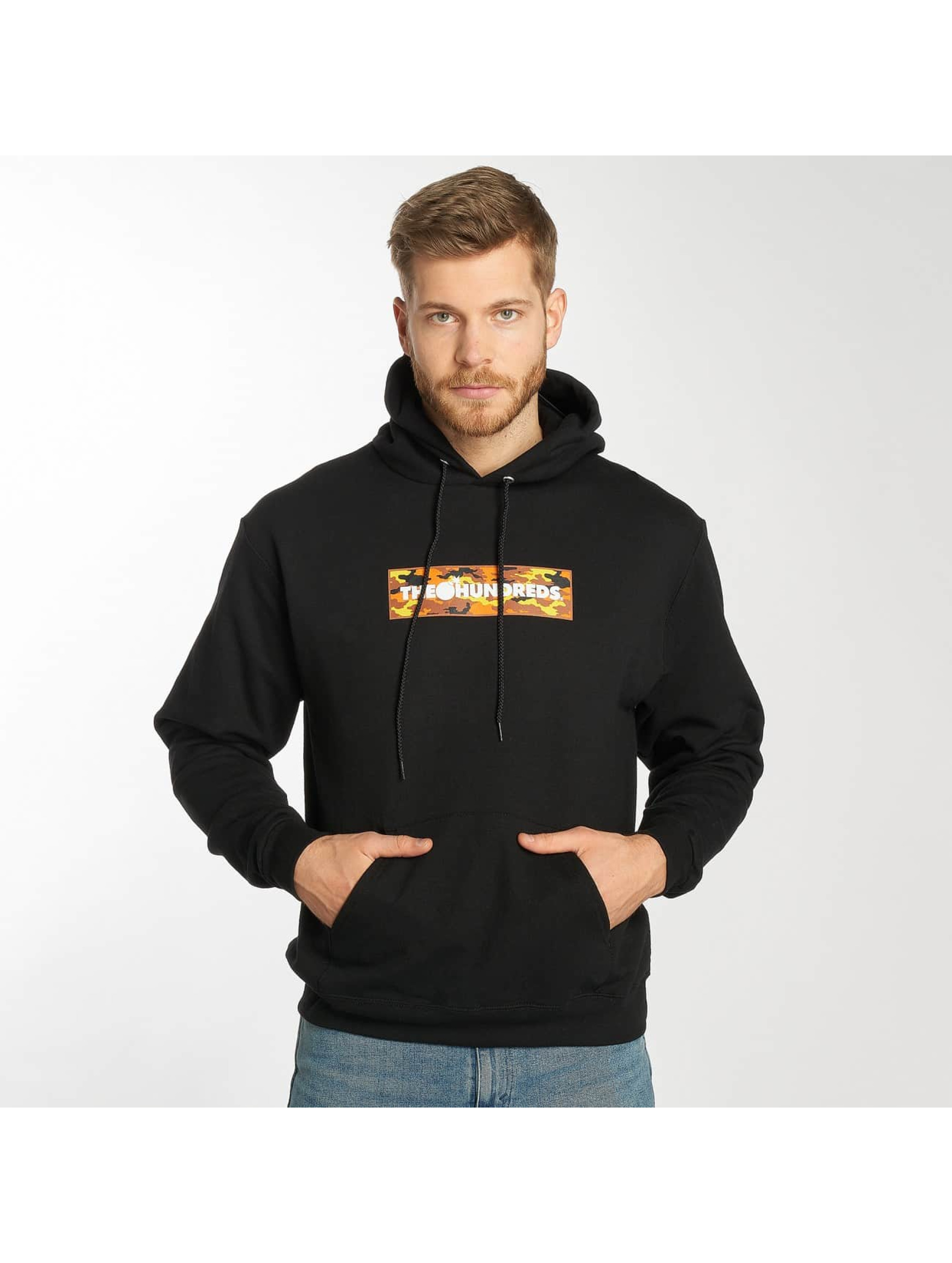 The Hundreds Hoodie Camo Bar svart