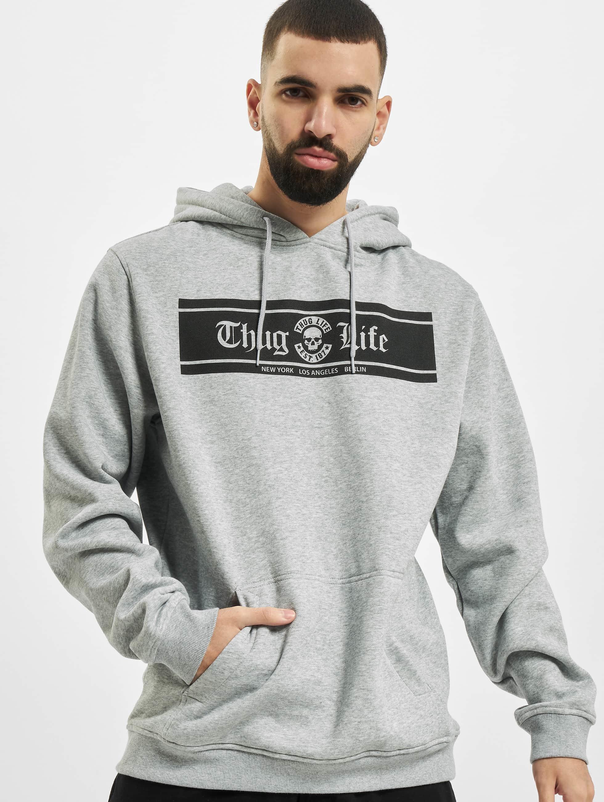 Thug Life Basic Hoodie Life Box gray